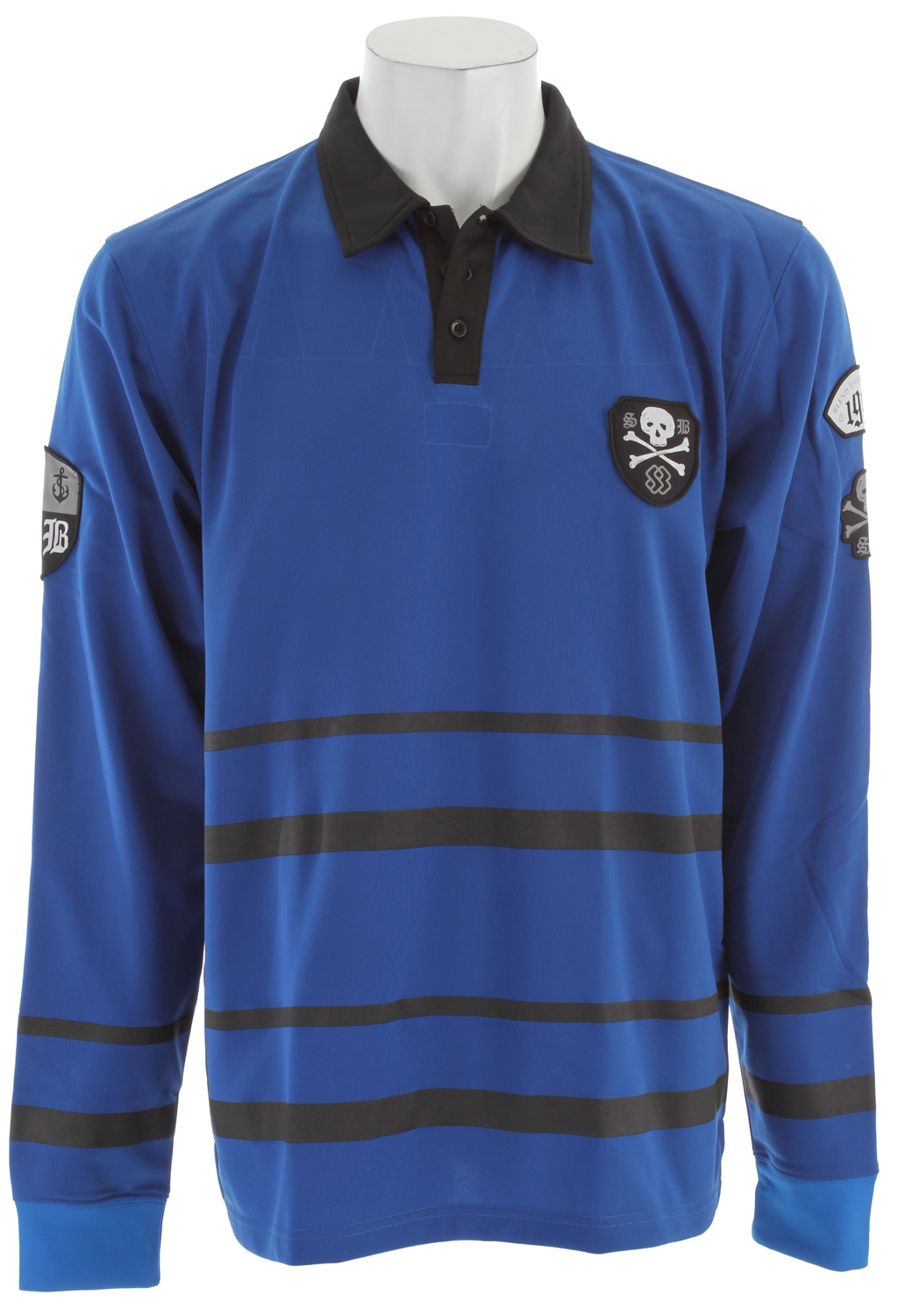 Key Features of the Special Blend Rugby Shirt Baselayer Top: 100% polyester Patched graphic on sleeves and body Wicking properties Cover stitched seams Anti-bacteria added on fabric to prevent odor - $15.96