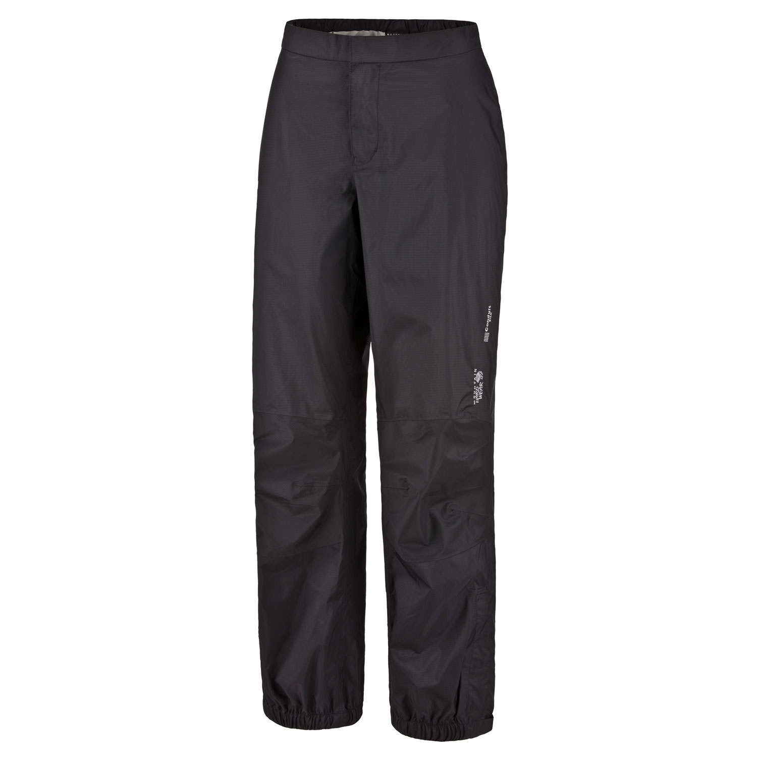 "Key Features of the Mountain Hardwear Epic Rain Pants: Avg. weight: 8oz; 221g Inseam: 32"" Fabric: Ark Ripstop 2.5L (100% nylon) DryQ Elite: 100% waterproof, most breathable, air-permeable, no-wait comfort Articulated knees for mobility 9"" ankle zips for easy on/off - $65.95"