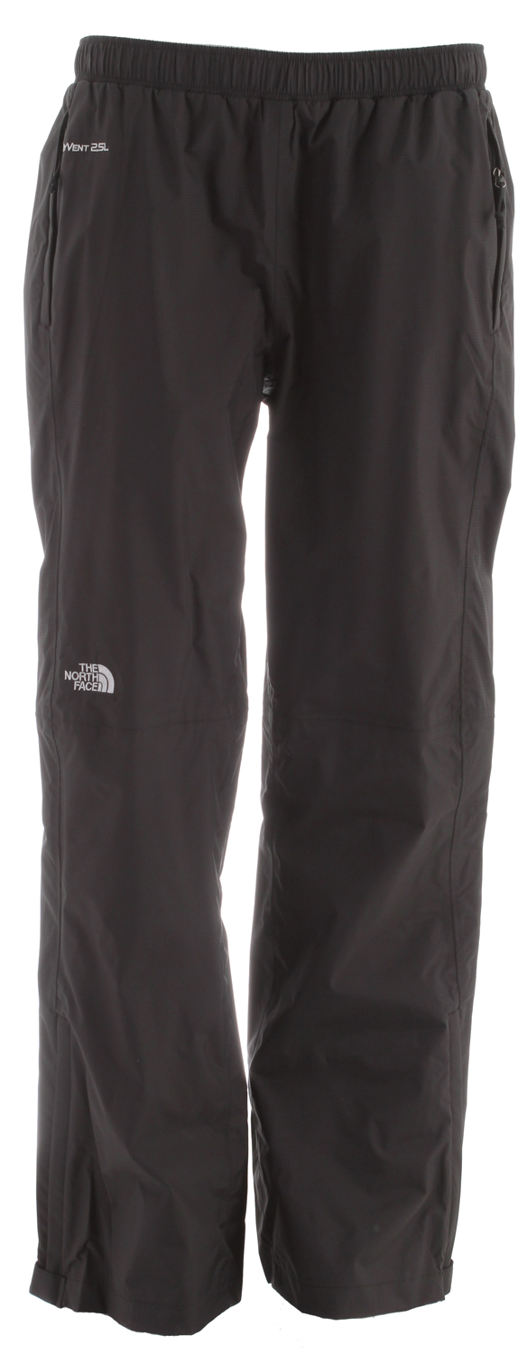 Technical waterproof, breathable rainwear pant designed to thrive in the wettest of weather. An elastic waist features a drawstring for a comfortable, secure fit. Extremely packable, this all-purpose weatherproof pant rolls up and stashes in its own pocket for easy traveling. HyVent is a superior waterproof, breathable technology that uses a polyurethane (PU) coating for a multi-layer formula that provides waterproof protection, moisture permeability and durability. All of the HyVent variations are waterproof. Lab tested. Athlete approved.40D nylon ripstop HyVent(R) DT 2.5LStandard fitWaterproof, breathable, seam sealedElastic waist with drawstringTwo hand pocketsPant stows in pocket - $54.95
