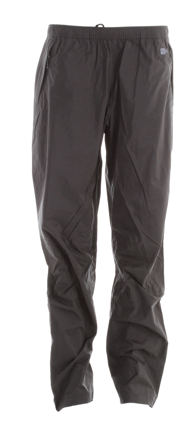 Camp and Hike These durable rain pants, made with 2.5-layer nylon ripstop and a waterproof/breathable H2no barrier are built for trekking and hiking in wet conditionsKey Features of the Patagonia Torrentshell Pants: 2.5-layer nylon ripstop shell with a waterproof/breathable H2no barrier and Deluge DWR (durable water repellent) finish Elasticized self-fabric waistband with internal drawcord pulls on for easy use Pockets: Two zippered handwarmers; all with Deluge DWR-treated zippers and storm flaps Articulated knees Adjustable, self-fabric hook-and-loop closure at ankle with flapped, Deluge DWR-treated zipper to the knee Pants stow in left-hand pocket Regular fit (9.2 oz) 261 g fabric: 2.5-layer, 2.6-oz 50-denier 100% nylon ripstop with a waterproof/breathable H2no barrier and a Deluge DWR finish - $71.95
