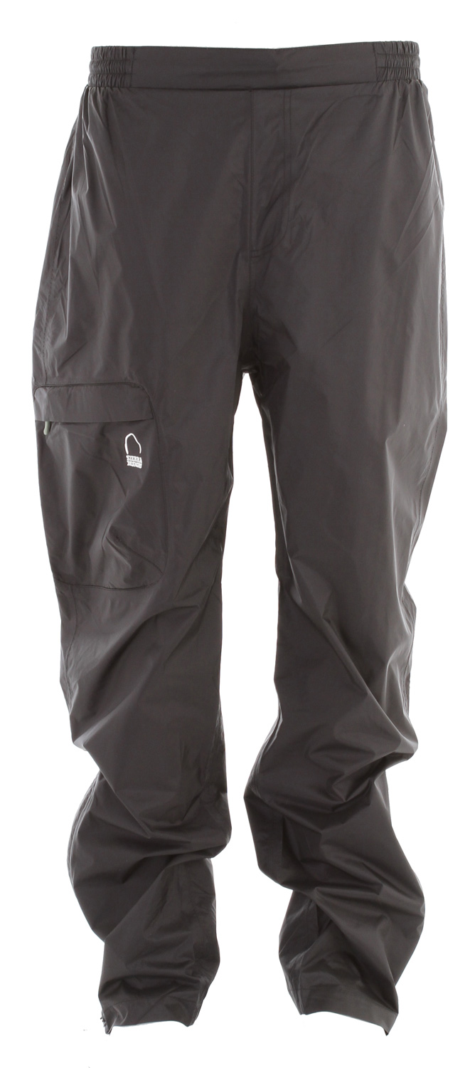 "Camp and Hike Lighweight, compact WP/B rain pant for backpacking.Key Features of the Sierra Designs Hurricane Rain Pants: 5,000mm Waterproof 5,000g Breathability INSEAM LENGTH: 29"" (L) WEIGHT: 7 oz SHELL FABRIC: Hurricane 2L WP/B 5,000 / 5,000z - $38.95"