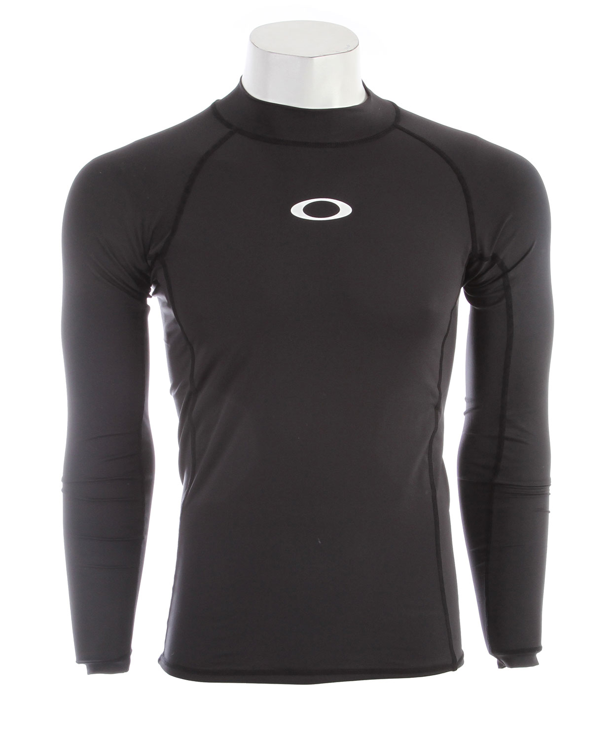 The Long Sleeve Pressure Rashguard protects against the irritations that serious surfers can do without. Designed with a stretchy fabric blend, this color blocked rashguard lets you move in style and without restriction in a snug mock neck cutKey Features of the Oakley LS Pressure Rashguard: Quick?drying stretch fabric delivers lightweight comfort and freedom of movement UV+ 50 fabric keeps you protected in and out of the water 88% polyester / 12% spandex Fit: Regular - $40.00