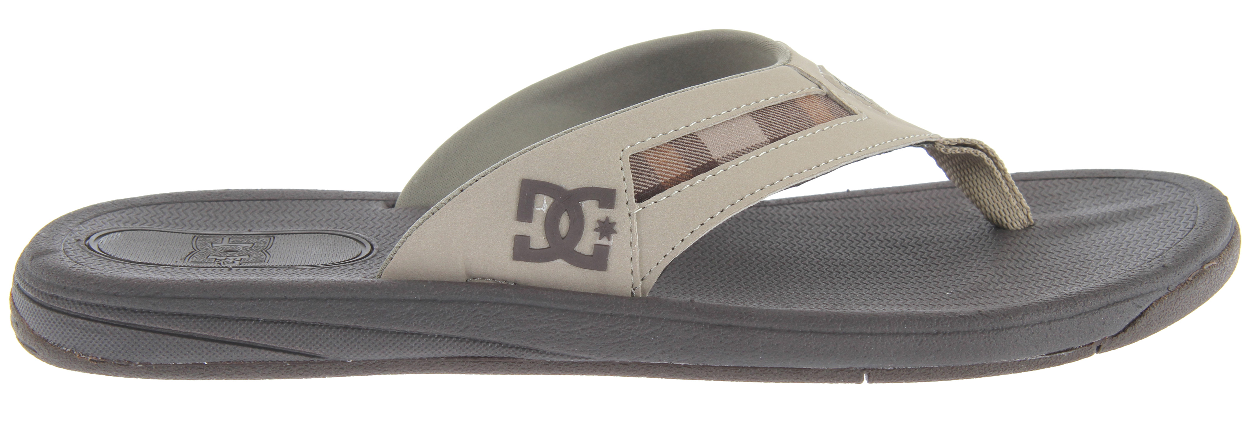 Skateboard Key Features of the DC Cabo Sandals: Super comfortable perennial favorite Synthetic leather Comfortable and foot friendly toe post Non-slip - $29.95