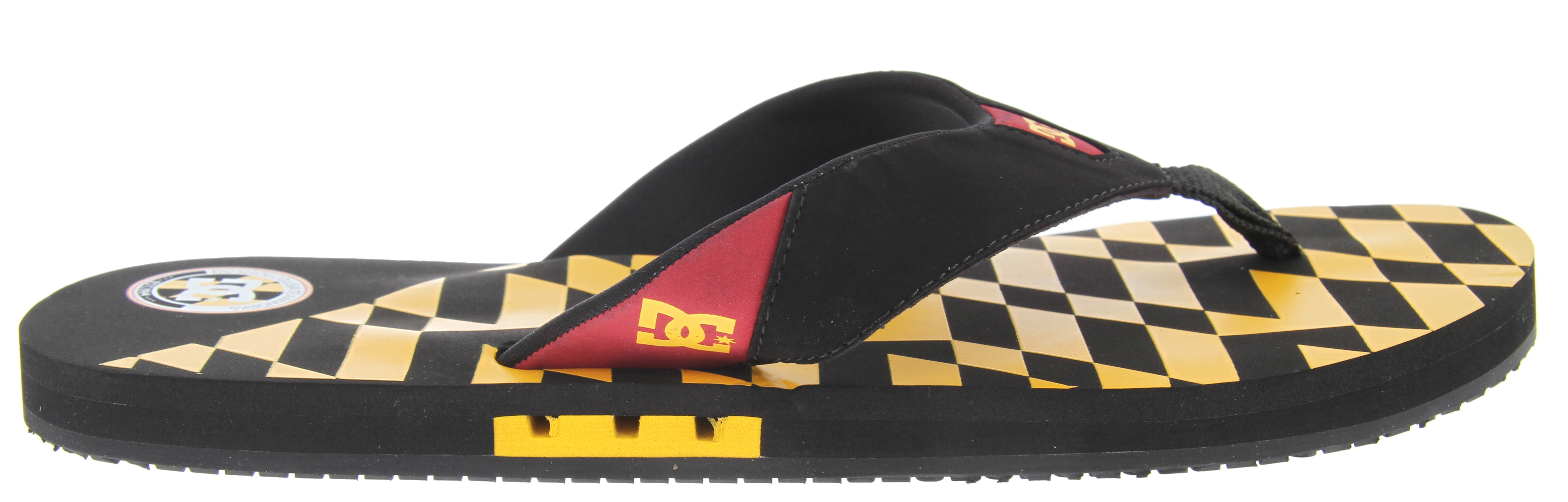 Skateboard Key Features of the DC Vapor TP Sandals: Travis Pastrana Signature Sandal Super soft upper Durable rubber construction EVA footbed Arch cookie Comfortable foot friendly toe post Non-slip - $13.95