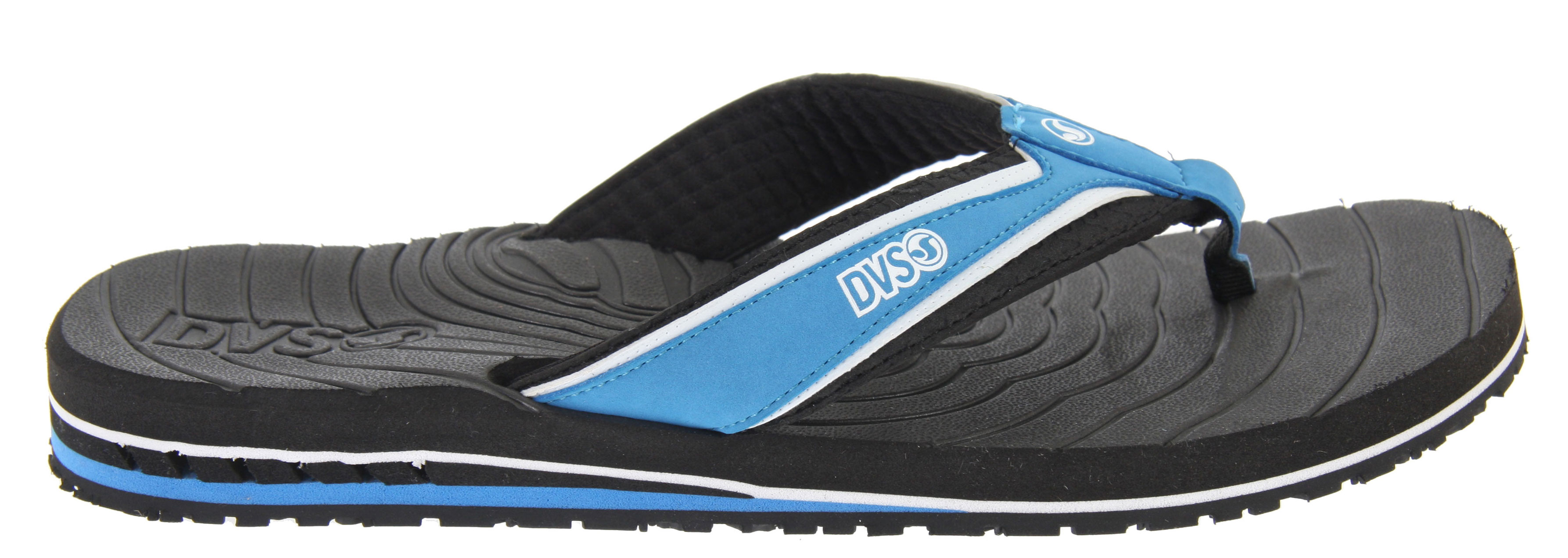 Surf Key Features of the DVS Jordy 2 Sandals: Custom molded lycra strap lining for grip and airation Synthetic nubuck leather upper overlaying a debossed Africa continent patterned soft EVA strap Custom contoured and molded EVA footbed with storm drain, swell model channels and anatomically correct arch support DVS Bruise Control EVA heel wedge with angled flex grooves Custom molded Africa continent patterned, sure grip rubber outsole - $18.95