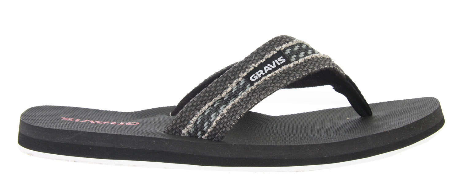 Surf Tired of cheap and generic sandals that leave you with sore feet halfway through the day? Ditch your lousy pairs and try out a pair of Gravis Hemperpedic Sandals. These sandals are made with supercush form fit memory foam which actually forms to your foot, giving you comfort all day long even while walking on hard or rocky surfaces. All pairs of Gravis Hemperpedic Sandals also include arch support as well. Traction is also not a problem with the durable outsole, making sure you are always steady on your feet.Key Features of the Gravis Hemperpedic Sandals: Supercush recyclable form fit memory foam Canvas strap with roll stitch design Arch support Durable traction outsole - $7.95