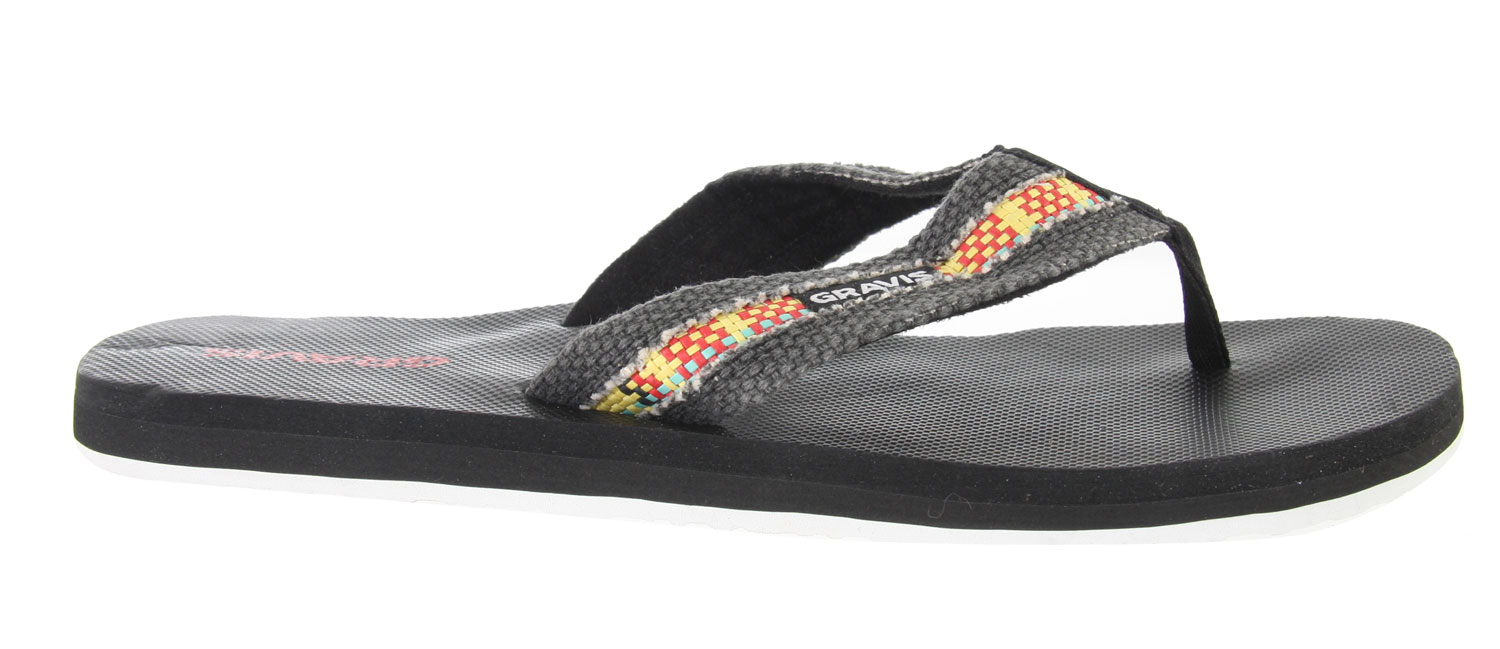 Surf Feel comfortable this season with the Gravis Hemperpedic Sandals. Wear it to the beach or local park and rock it with style. Made with recyclable memory foam, arch support and great traction soles, you can wear these with comfort everywhere you go. Look in season with these good looking pair of sandals and be sure to feel good all season long.Key Features of the Gravis Hemperpedic Sandals: Supercush recyclable form fit memory foam Canvas strap with roll stitch design Arch support Durable traction outsole - $5.95