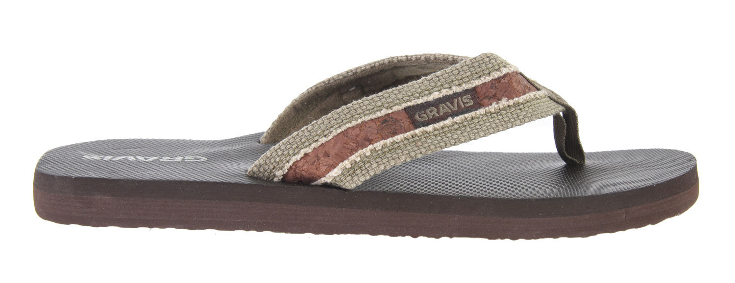 Surf Feel comfortable this season with the Gravis Hemperpedic Sandals. Wear it to the beach or local park and rock it with style. Made with recyclable memory foam, arch support and great traction soles, you can wear these with comfort everywhere you go. Look in season with these good looking pair of sandals and be sure to feel good all season long.Key Features of the Gravis Hemperpedic Sandals: Supercush recyclable form fit memory foam Canvas strap with roll stitch design Arch support Durable traction outsole - $23.95