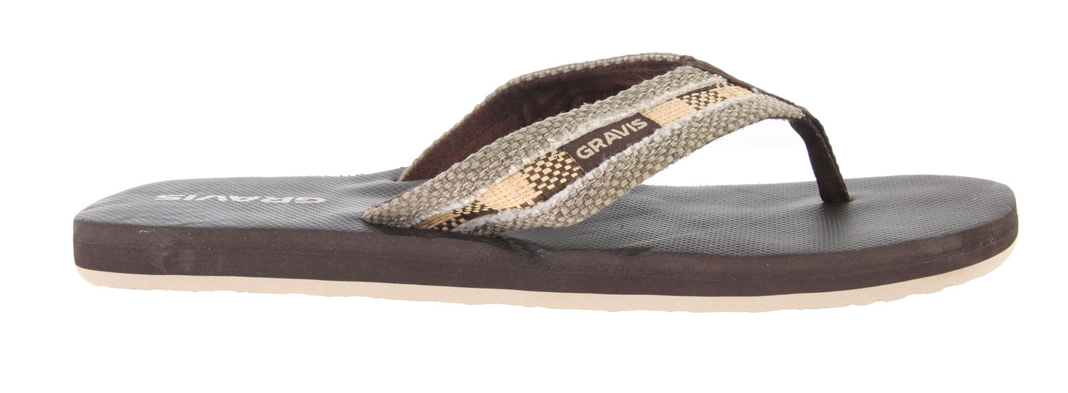 Surf Feel comfortable this season with the Gravis Hemperpedic Sandals. Wear it to the beach or local park and rock it with style. Made with recyclable memory foam, arch support and great traction soles, you can wear these with comfort everywhere you go. Look in season with these good looking pair of sandals and be sure to feel good all season long.Key Features of the Gravis Hemperpedic Sandals: Supercush recyclable form fit memory foam Canvas strap with roll stitch design Arch support Durable traction outsole - $27.95