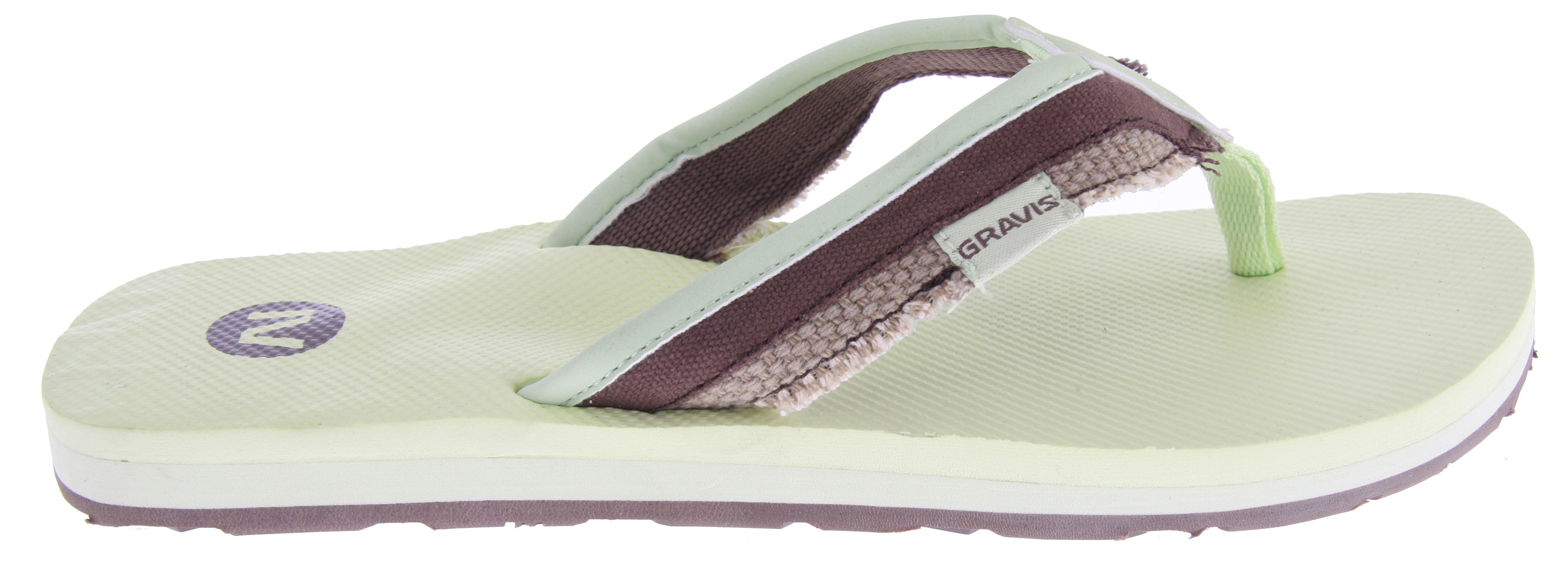 Surf Key Features of the Gravis Hemperpedic Sandals: Canvas strap with a roll stitch design Supercush recyclable form fit memory foam Arch support in the footbed for added comfort. Screenprint of Gravis logo on footbed. Durable synthetic outsole for traction. - $7.95