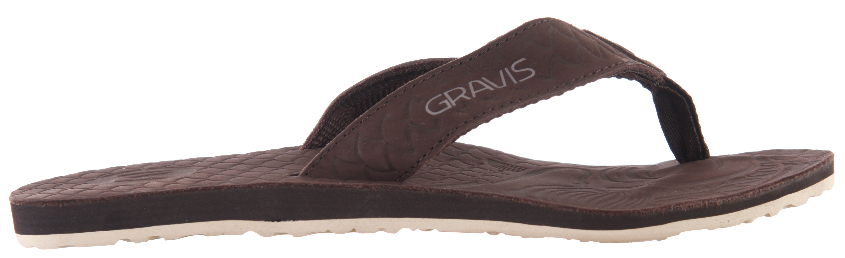 Surf The Gravis Kirra Sandals provides the perfect summer look featuring leather straps that are custom designed to feel ultra comfortable. With a foamy footbed, these sandals provide much needed arch support. Great rubber traction makes it ideal to walk around all day in great ease and comfort. So, rock these sandals this summer and have a great time in the sun.Key Features of the Gravis Kirra Sandals: Premium leather topdeck materials Arch support Seamless comfort strap design Nylon webbing toe post Custom embossed Koi fish graphics Soft touch EVA foam topdeck Rubber traction outsole - $16.92