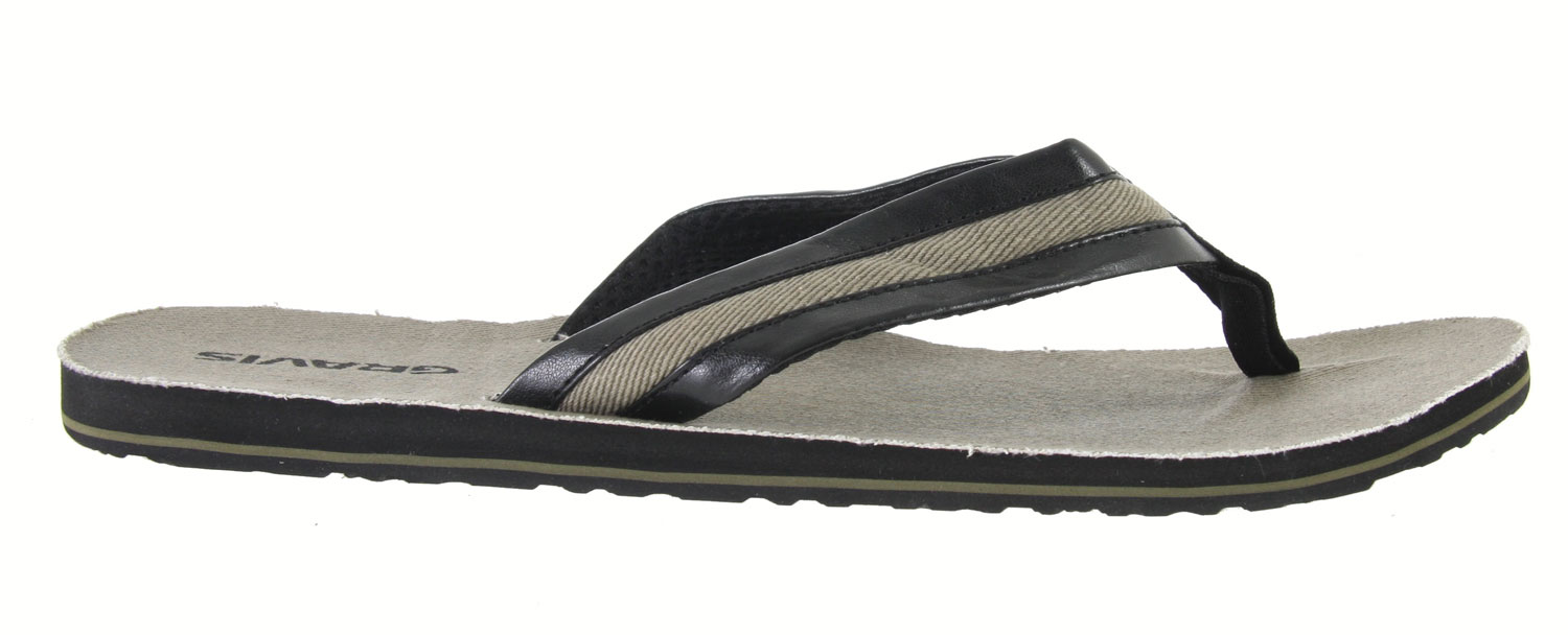 Surf The Gravis San Lucas Sandals contain cotton damask top deck materials, a nylon webbing toe post, and a synthetic leather strap with canvas underlays. These carefully selected, high quality materials ensure the long life of the sandal, as well its durability. The Gravis San Lucas Sandal offers the wearer arch support, and a top deck that is made from soft-touch, EVA foam, which also features massaging nubs, specially designed to give the wearer stimulating comfort. With a mesh lined strap and durable traction outsole, the Gravis San Lucas contains all of the elements necessary for unparalleled comfort, function, and durability.Key Features of the Gravis San Lucas Sandals: Cotton damask topdeck materials Arch support Synthetic leather strap with canvas underlays Mesh lined strap Nylon webbing toe post New molded top deck with massaging nubs Soft touch eva foam topdeck Durable traction outsole - $7.95