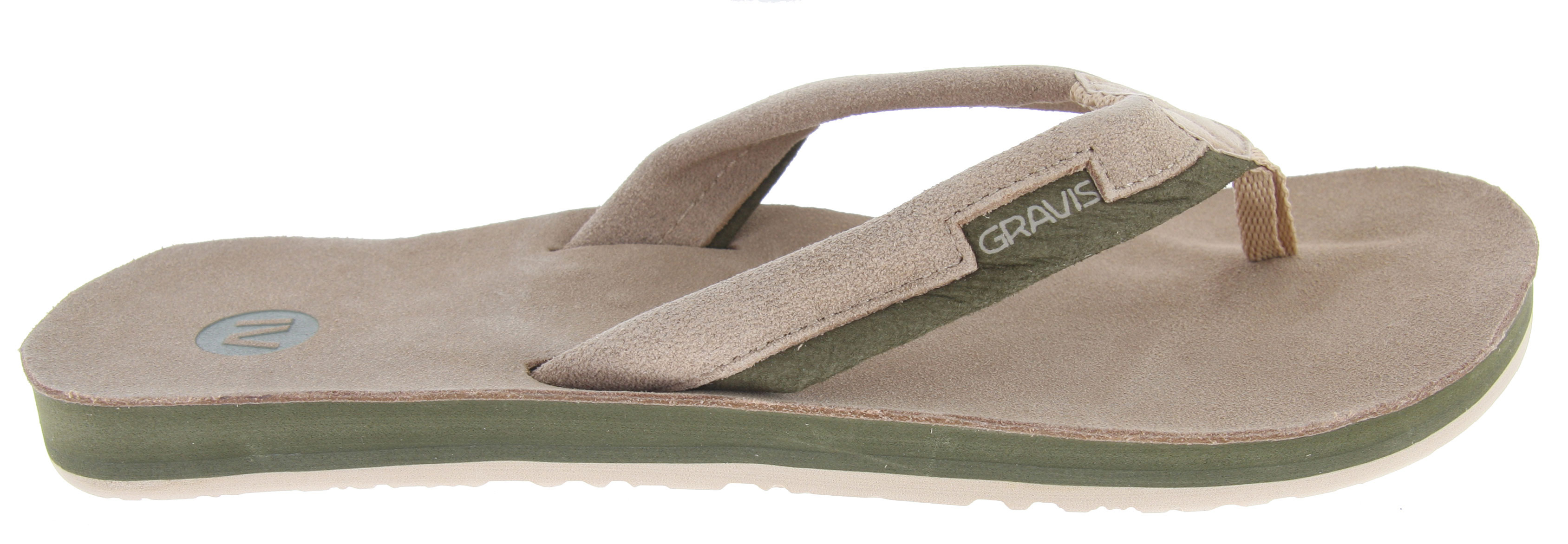 Surf Free your feet and get ready for summer with the Gravis Slider sandals. Premium leather is uses on the top deck, straps, and lining for extra comfort. The molded footbed with arch support lets you rock the Sliders all day, and the rugged synthetic outsole means they'll hold up to terrain from the beach to the pool. It's time to get out of those sneakers and boots and show your feet the light with the Gravis Slider sandals.Key Features of the Gravis Slider Sandals: Premium leather topdeck, straps, and lining Molded footbed Gravis logo on footbed and straps. Arch support Durable synthetic outsole - $18.95