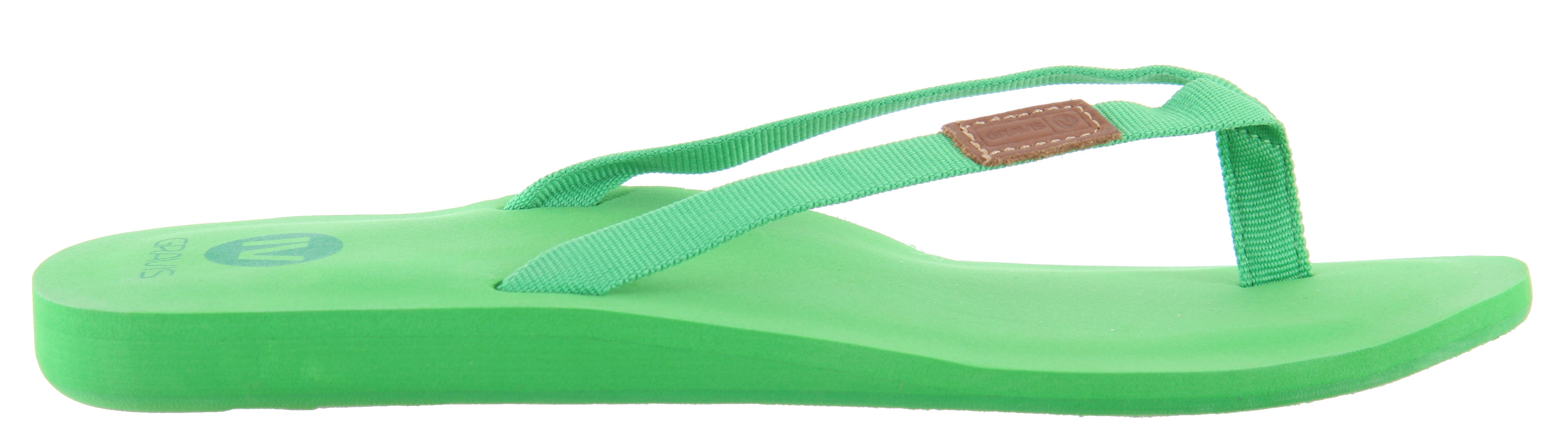 Surf The Gravis Spritzer Sandals offers such a fresh look, it's perfect for summer. Featuring a light T-strap design, its dainty appearance adds a nice feminine touch. The arch support provides great comfort, perfect to wear around town. Hit the beach with the Gravis Spritzer Sandals this summer and enjoy the sun. You'll look like you're ready for summer.Key Features of the Gravis Spritzer Sandals: Thin Webbing Arch Support EVA Topdeck - $11.85