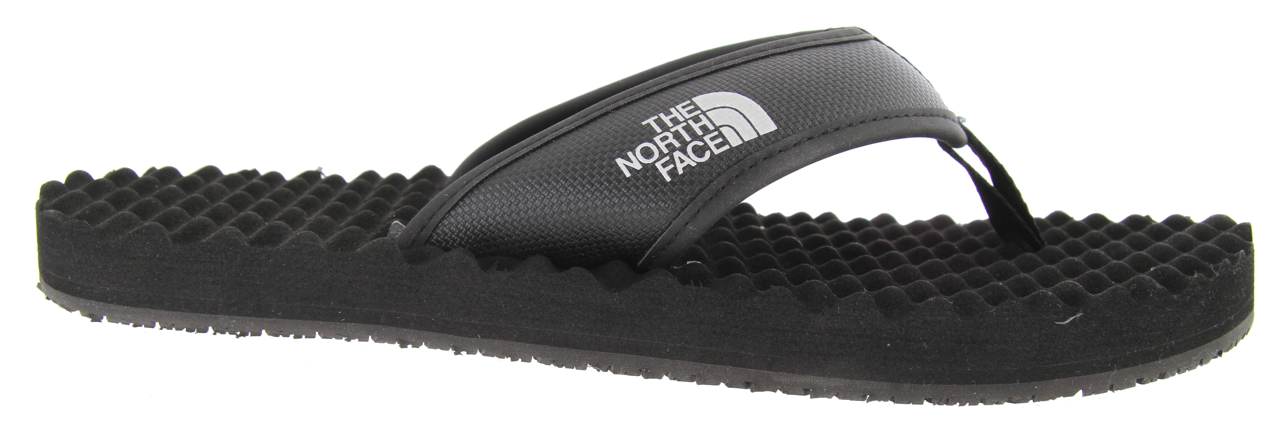 Camp and Hike Classic, rugged style inspired by their hyper-durable expedition equipment, The North Face Base Camp Flip Flop supportive sandal is comfortable and resilient for loads of use.Key Features of The North Face Base Camp Flip Flop Sandals: PVC-free, PU-coated synthetic strap with soft PU binding and jersey lining upper Extra-cushy, egg-crate-inspired EVA footbed with anatomical arch support Rubber outsole - $20.95