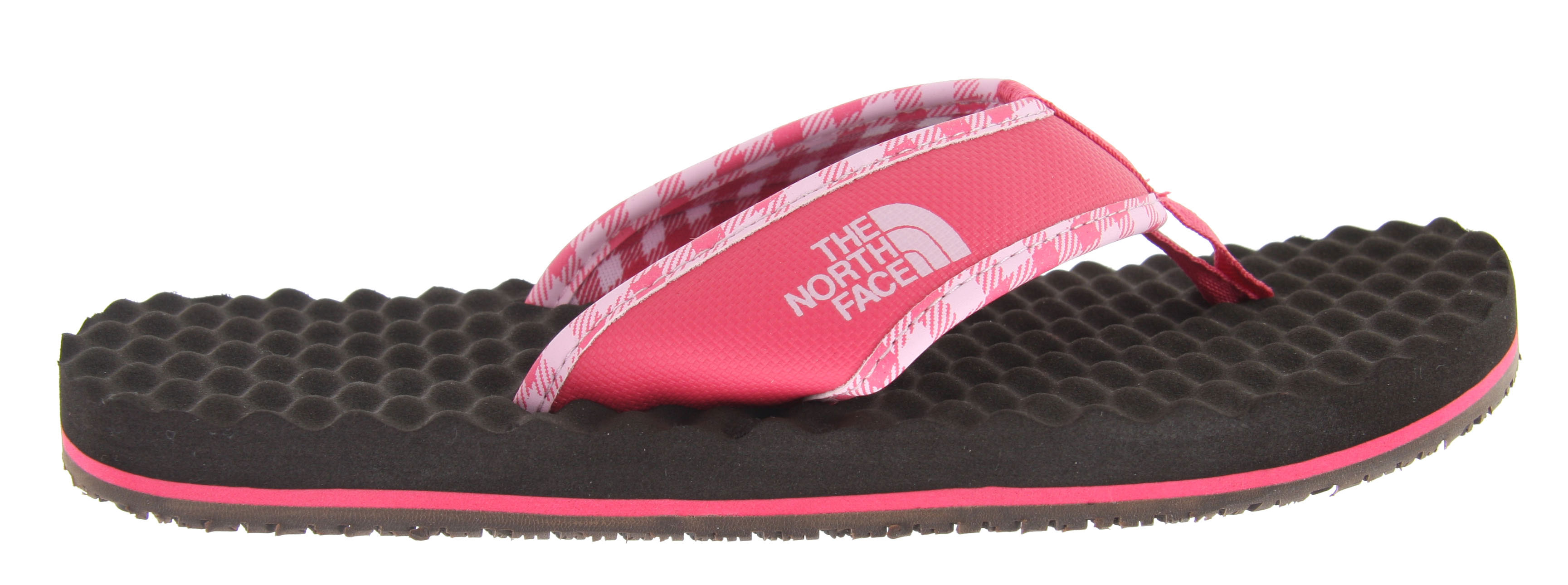 Camp and Hike Classic, rugged style inspired by their hyper-durable expedition equipment, The North Face Base Camp Flip Flop supportive sandal is comfortable and resilient for loads of use.Key Features of The North Face Base Camp Flip Flop Sandals: PVC-free, PU-coated synthetic strap with soft PU binding and jersey lining upper Extra-cushy, egg-crate-inspired EVA footbed with anatomical arch support Rubber outsole - $23.95