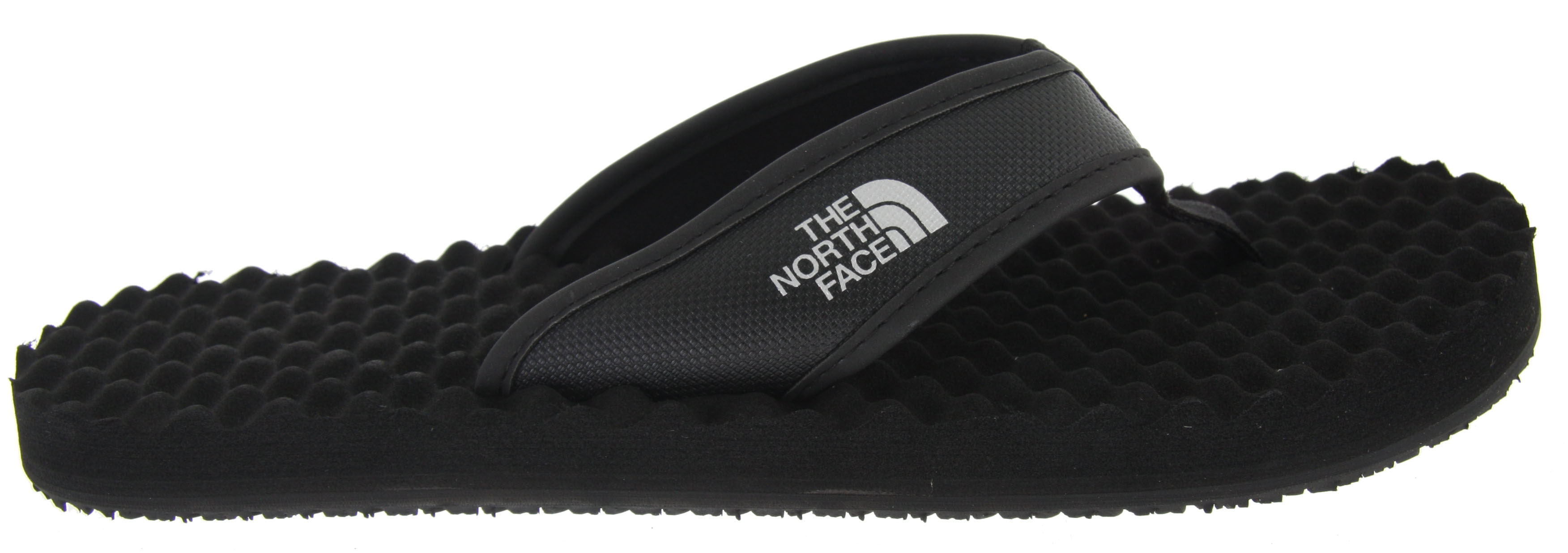 Camp and Hike Classic, rugged style inspired by their hyper-durable expedition equipment, The North Face Base Camp supportive sandal is comfortable and resilient for loads of use.Key Features of The North Face Base Camp Sandals: PVC-free, PU-coated synthetic strap with soft PU binding and jersey lining upper Extra-cushy, egg-crate-inspired EVA footbed with anatomical arch support Rubber outsole - $23.95