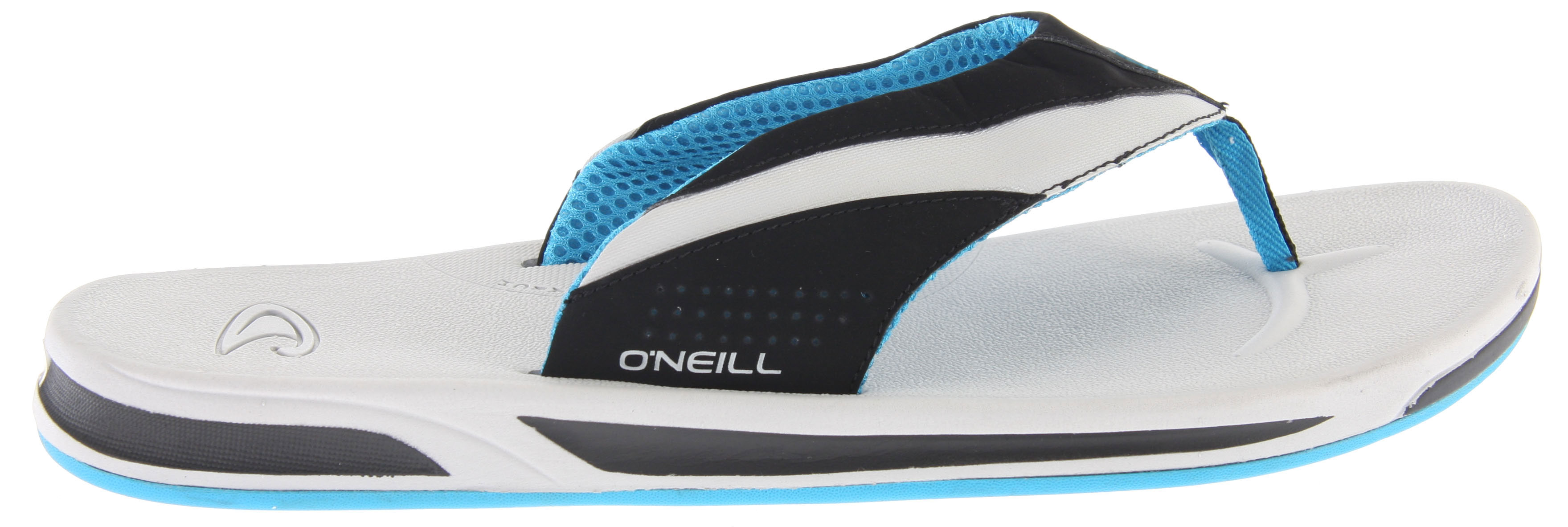 Surf Key Features of the O'Neill Killers Sandals: Synthetic nubuck upper Comfort airmesh lining Debossed logo graphics Contoured compression molded EVA footbed Super arch support Rubber outsole - $31.95