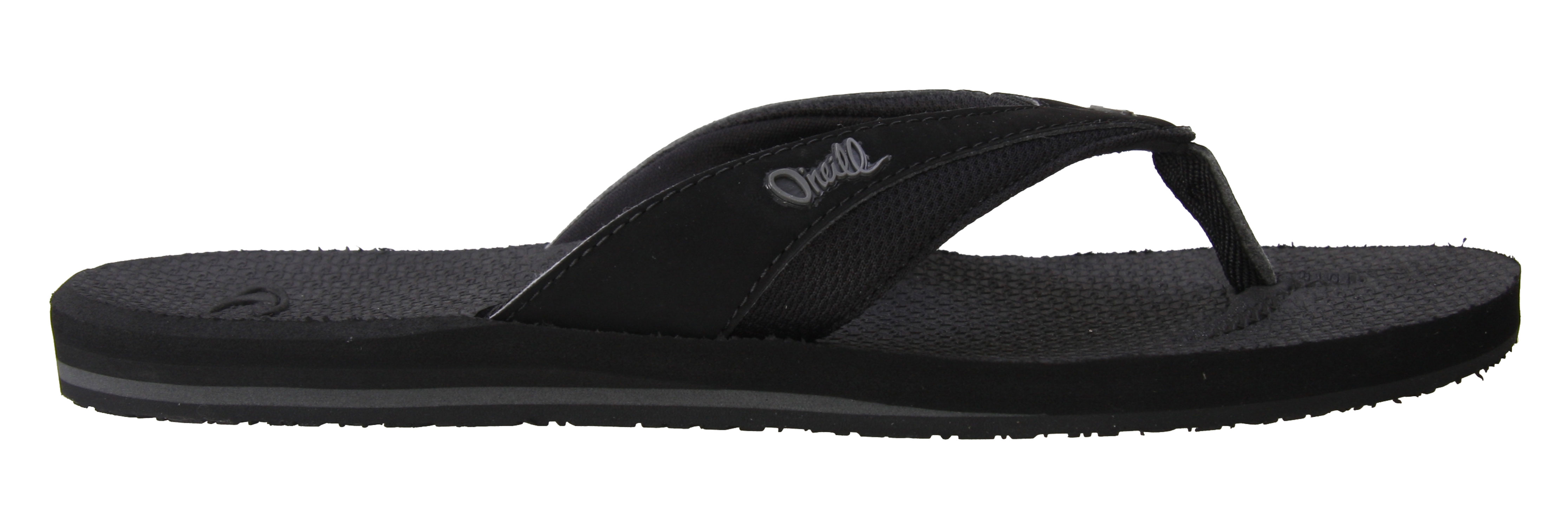 Surf Perfectly casual and comfortable, the O'Neill Tron Sandals are great for summer. It features a synthetic and water friendly upper, contoured molded footbed, constructed arch support, and rubber outsoles, all great features bundled into one great pair of sandals. So, why not rock it out? So simple and classic in design, wear them all summer long.Key Features of The O'Neill Tron Sandals: Synthetic Nubuck/Mesh Water Friendly Upper Neoprene Lining on Strap Contoured Compression Molded EVA Footbed Anatomically Constructed Arch Support Cosmic Rubber Outsole Silicone Injection Embossed Logos - $16.95