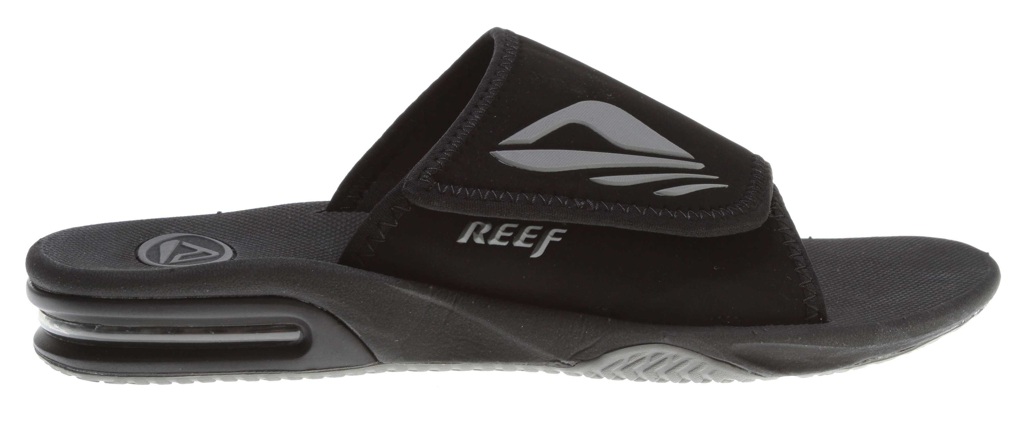 "Surf Key Features of the Reef Adjustable Byob Sandals: Adjustable comfortable, water friendly synthetic nubuck upper Secret ""hide a key"" pocket under the strap contoured compression molded eva footbed with anatomical arch support Full 360 degree heel airbag enclosed in soft polyurethane Church key to open your ""soda"" bottle Reef icon herringbone rubber outsole - $55.00"