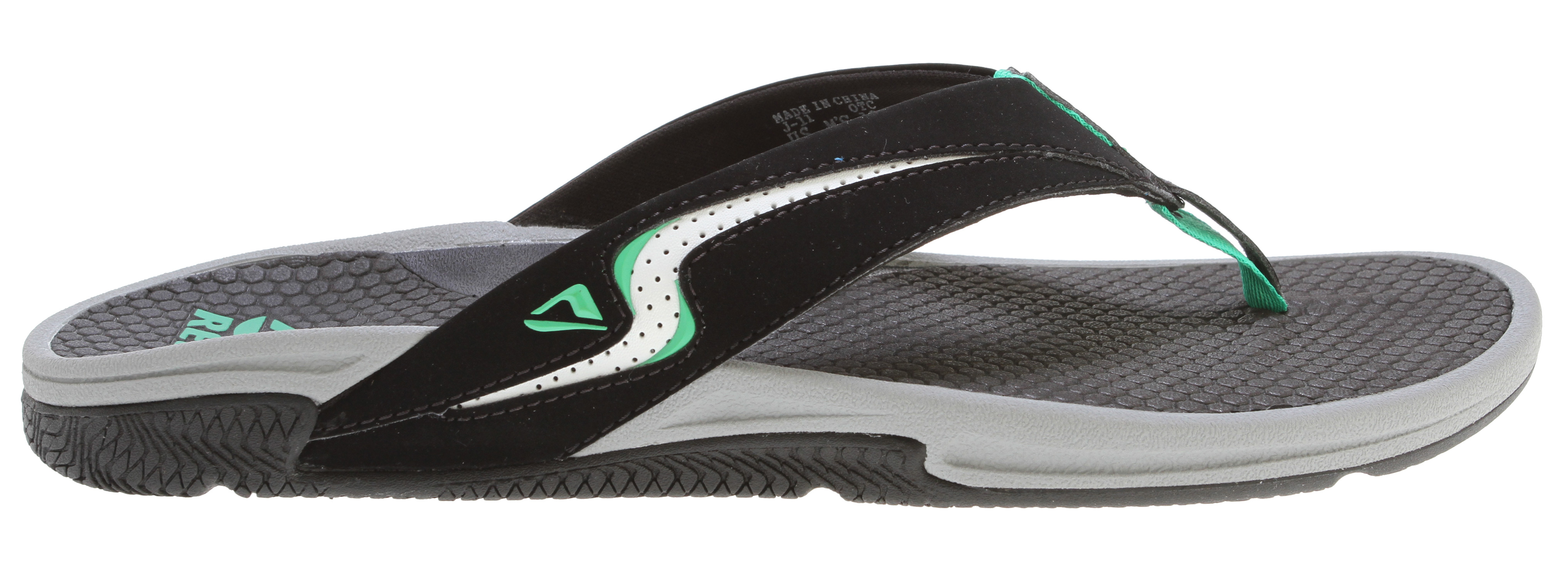 Surf Key Features of the Reef Arch-2 Sandals: Comfortable, water friendly synthetic nubuck upper Super soft synthetic foamed backed jersey lining Micro injected inlay strap design details Honey combed textured eva footbed for traction and breathability adjustable footbed technology with adjustable arch system in the midsole with adjuster key Deep contoured 51% recycled eva midsole Reef performance tread outsole made of 25% recycled rubber - $45.95