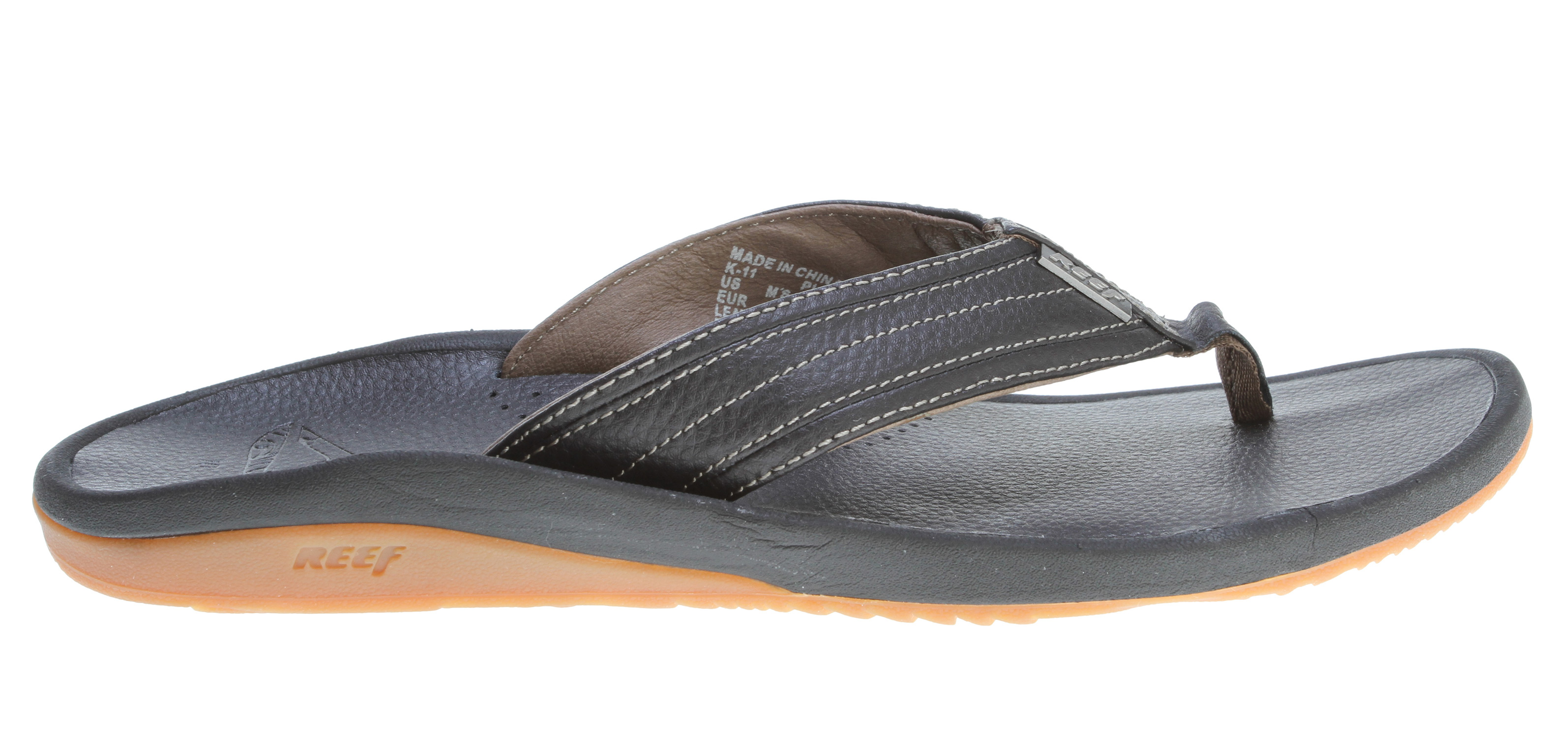 Surf Key Features of the Reef Playa Avellanas Sandals: Full grain leather upper and footbed asymmetrical upper design provides style and support with super soft glove-like pig skin lining Reef metal logos Deep contoured 51% recycled eva midsole Reef supreme design outsole made of 25% recycled rubber - $48.95