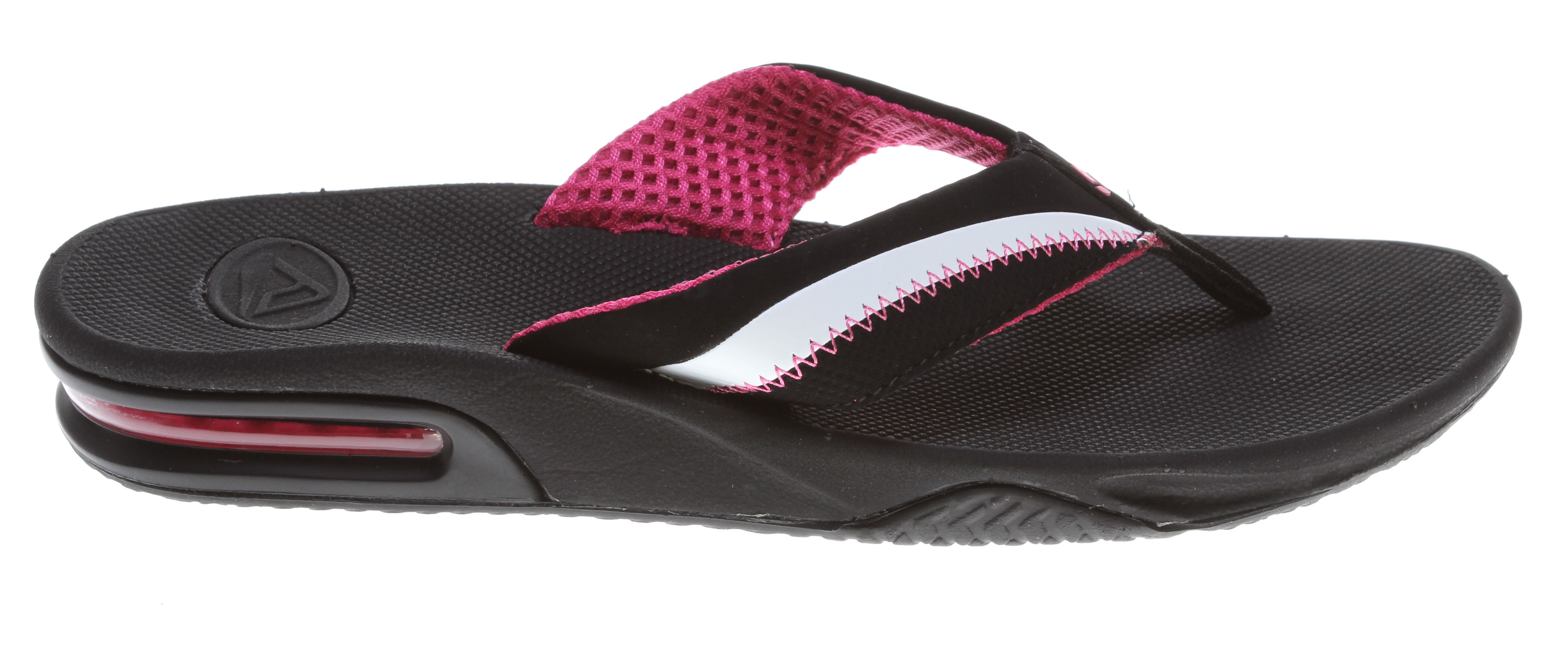 Surf The Reefedge Girl's Sporty sandal has a Water friendly synthetic Nubuck upper with soft mesh lining, Contoured EVA footbed with anatomical arch support, Full 360 degree heel airbag enclosed in soft polyurethane, and most importantly...a Church key to open your soda bottle.Key Features of the Reef Reefedge Sandals: Water friendly synthetic nubuck upper with soft mesh lining Contoured EVA footbed with anatomical arch support full 360 degree heel airbag enclosed in soft polyurethane Church key to open your soda bottle - $49.95