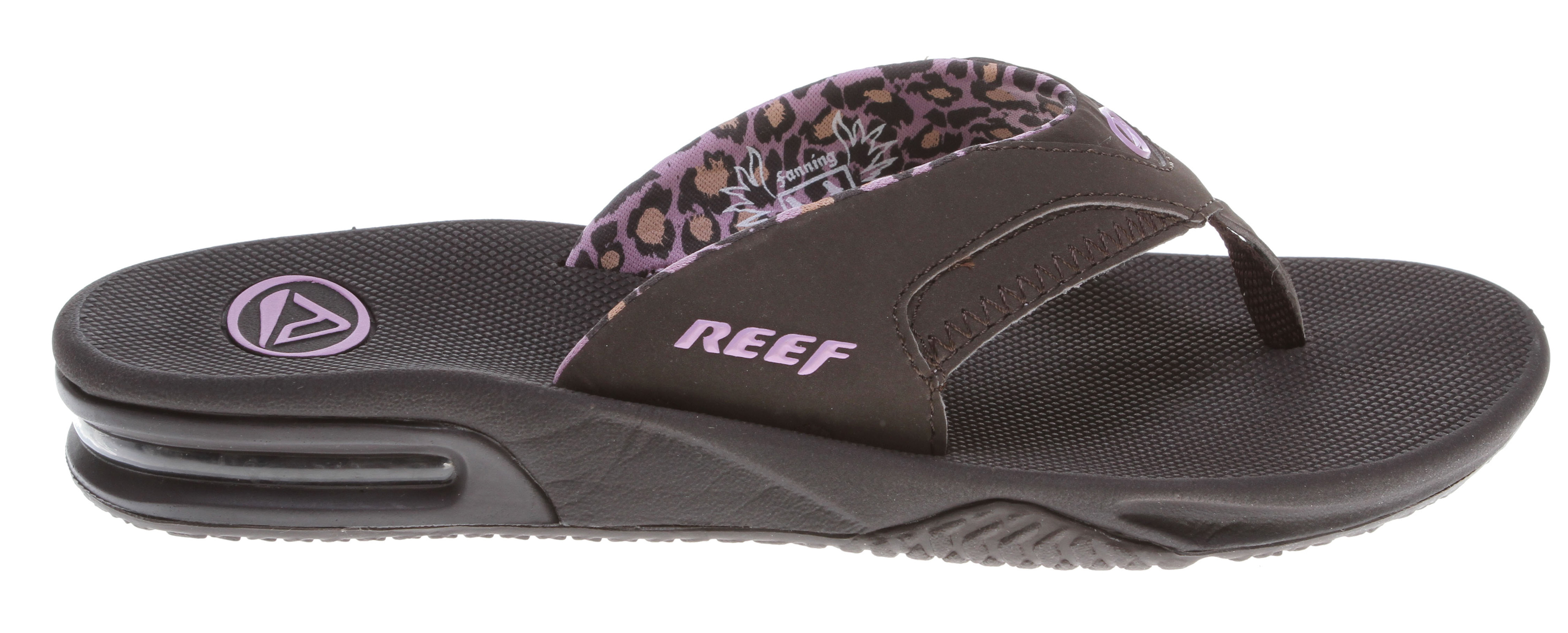 "Surf Key Features of the Reef Fanning Sandals: Reef Best Seller Girl's Sporty Sandal Mick Fanning's signature design Water-friendly synthetic nubuck upper Contoured EVA footbed with anatomical arch support Full 360 degree heel airbag enclosed in soft polyurethane Bottle opener to open your ""soda"" bottle - $27.95"
