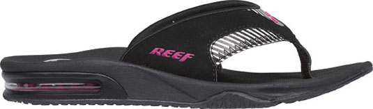 Surf Key Features of the Reef Fanning Women's Sandals: Mick Fanning's signature sandal Water-friendly synthetic nubuck upper Construction eva footbed with anatomical arch support Full 360 degree heel airbag enclosed in soft polyurethane Church key to open your soda bottle - $27.95