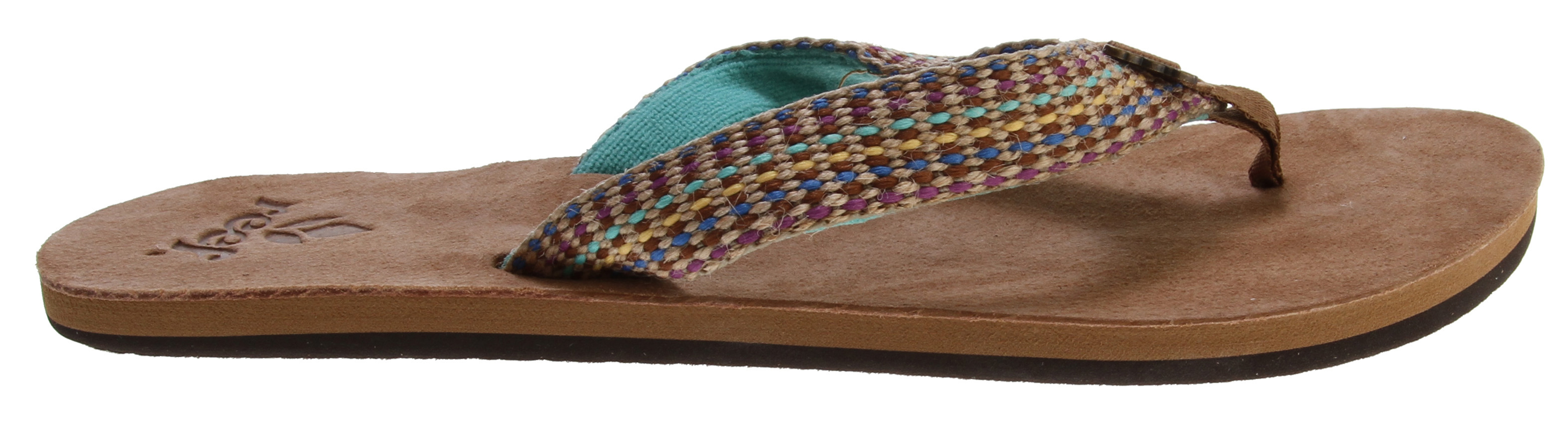 Surf Key Features of the Reef Gypsylove Sandals: Woven strap with ultra soft terry cloth lining Suede leather toepost overlay; woven polyester toepost Soft suede leather footbed with anatomical arch support Rubber sponge outsole for flexibility - $23.95