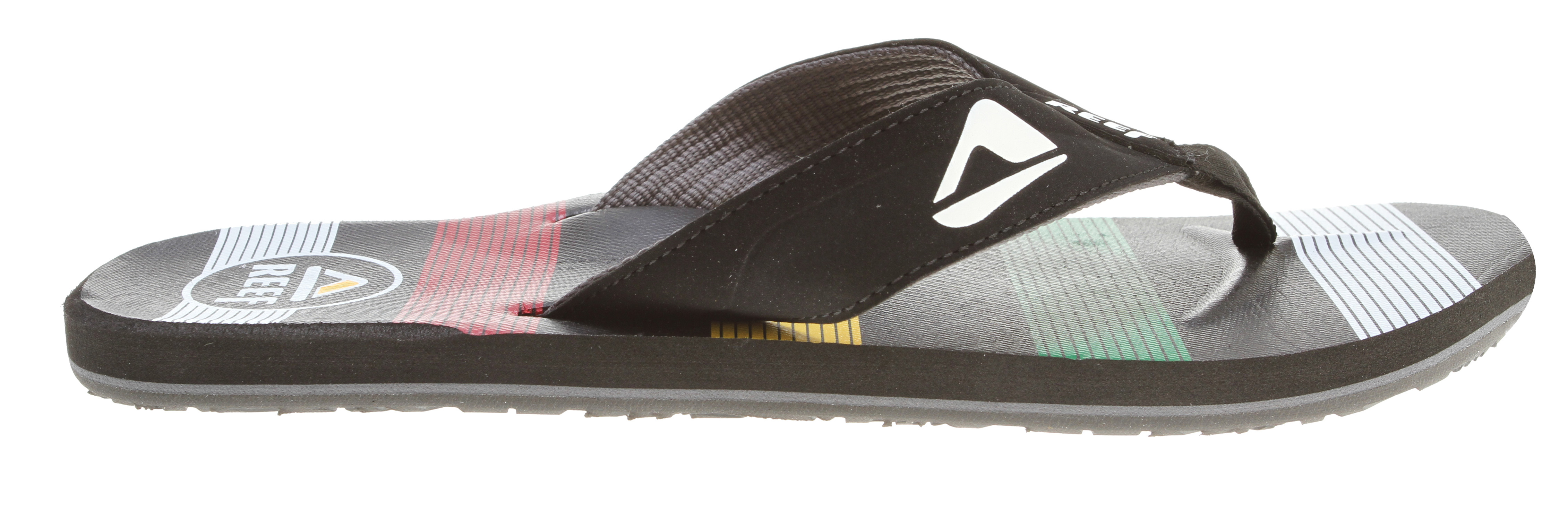 Surf Key Features of the Reef HT Prints Sandals: Soft, comfortable, water friendly synthetic nubuck upper Soft reef polyester woven lining Printed footbed design details Contoured eva footbed with anatomical arch support Grippy molded reef rubber outsole - $19.95