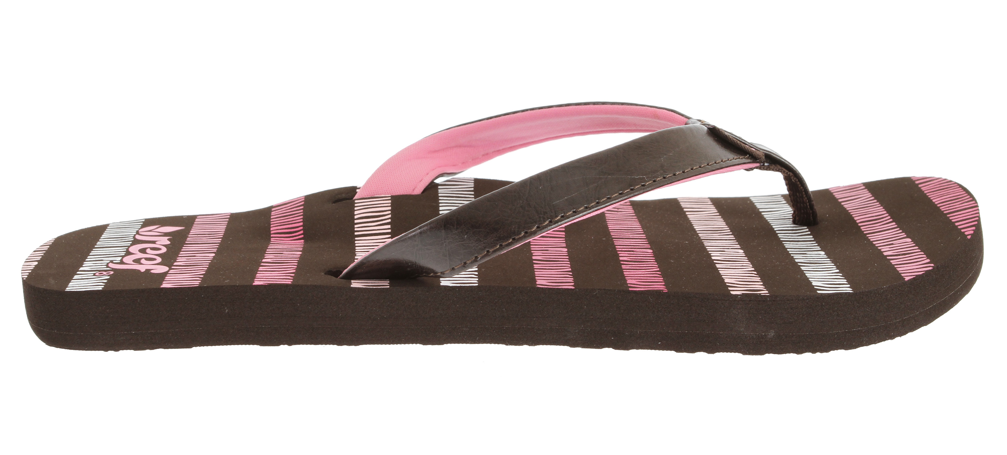 Surf Comfy, durable and versatile, this thong-style sandal from Reef is an easy-chic match for beach wear, denims, and other summery favorites. The Lakeside 2 is crafted with a synthetic leather upper and features a soft, fabric lining and contoured footbed for arch support. It's perfect for tucking into your weekend travel tote as a lightweight accompaniment to your casual evening wear. - $18.95