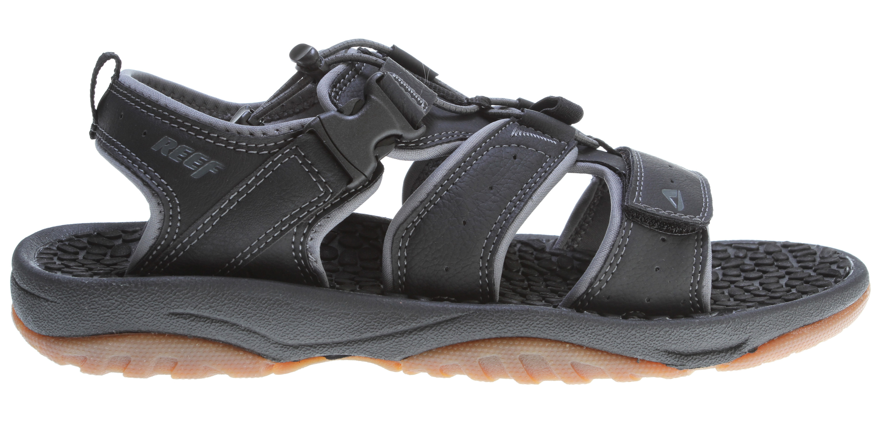 Surf Key Features of the Reef Mundaka X4 Sandals: Comfortable, water friendly synthetic nubuck upper Adjustable in-step strap closure system for quick entry quick dry upper synthetic materials for minimal water retention thermo sliced wax texture footbed for comfort and breathability Compression molded eva midsole Durable and grippy rubber outsole - $48.95