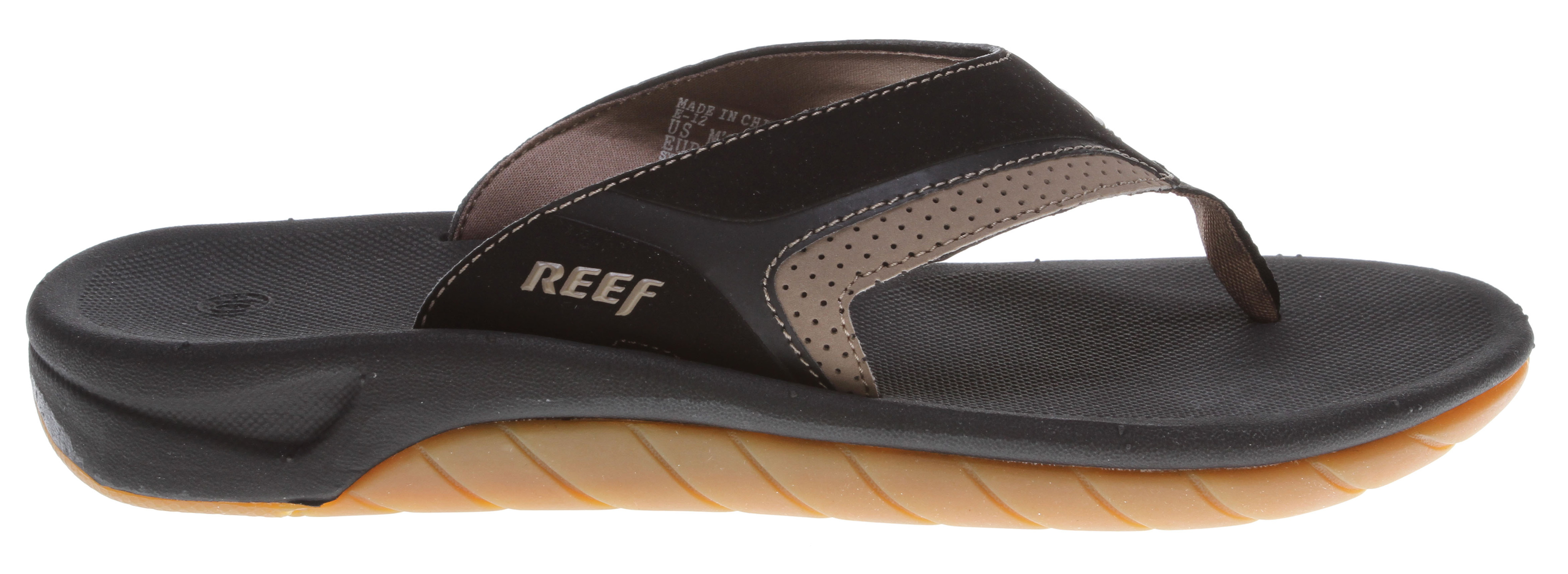 Surf Key Features of the Reef Slap II Sandals: Guy's Performance Sandal Updated classic on slip-on footwear Comfortable, leather upper with emboss details Soft padded pigskin lining Original slap contoured compression molded EVA footbed with anatomical arch support Durable non-marking rubber outsole - $30.95