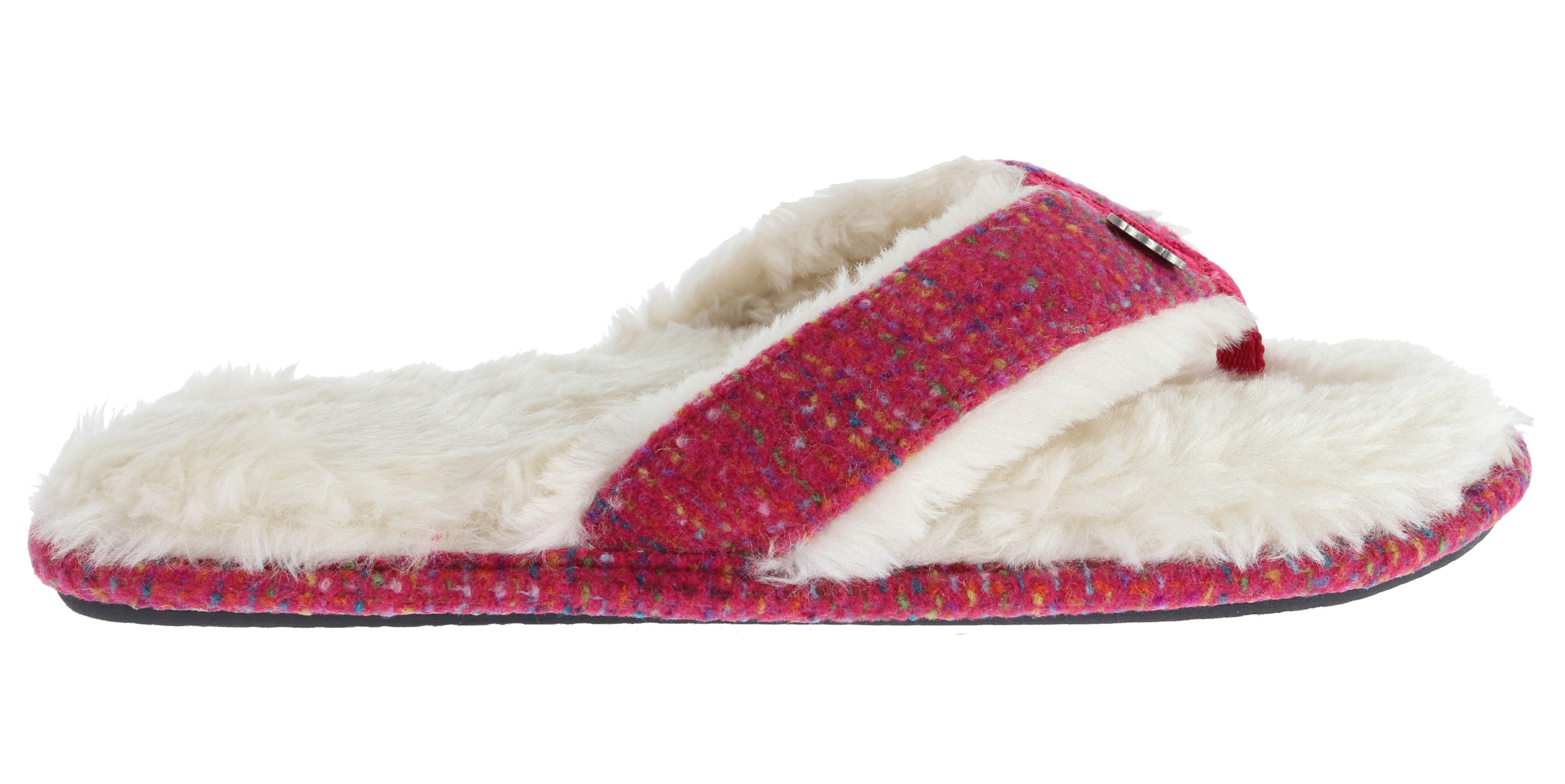 Surf Comfy, cozy, and oh-so-cute, the Reef Snowbird will keep your feet warm all year round. This women's slipper features a textile upper with Reef logo metal hardware. The cozy, padded faux shearling lining on the footbed and strap provides your feet with warmth and comfort. This Reef slipper also has a durable rubber sponge outsole that makes it suitable for indoors or outside. Reef takes thong style to the coziest level ever with the Reef Snowbird.Key Features of the Reef Snowbird Sandals: - $29.95