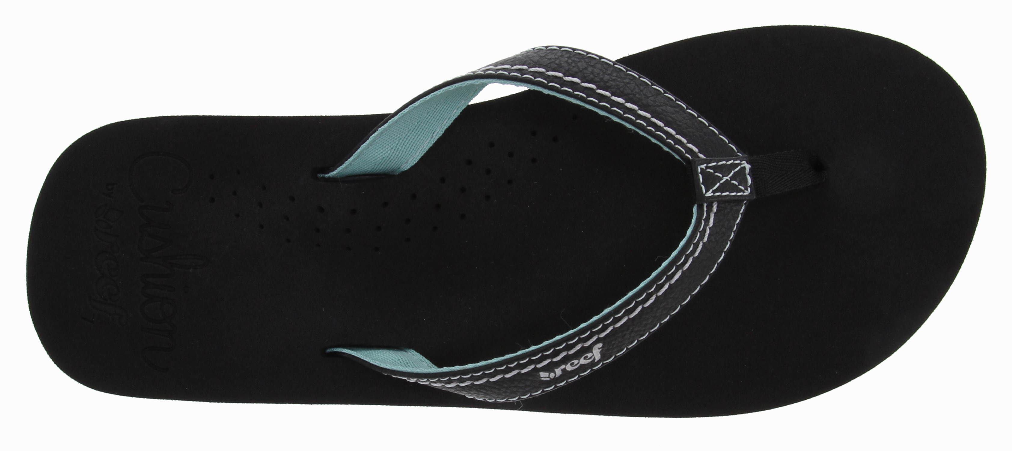 Surf Key Features of the Reef Stitched Cushion Sandals: Synthetic strap with stitched detailing lined with soft polyester webbing Featuring super soft Reef cushion EVA with anatomical arch support Rubber sponge outsole for flexibility - $22.95