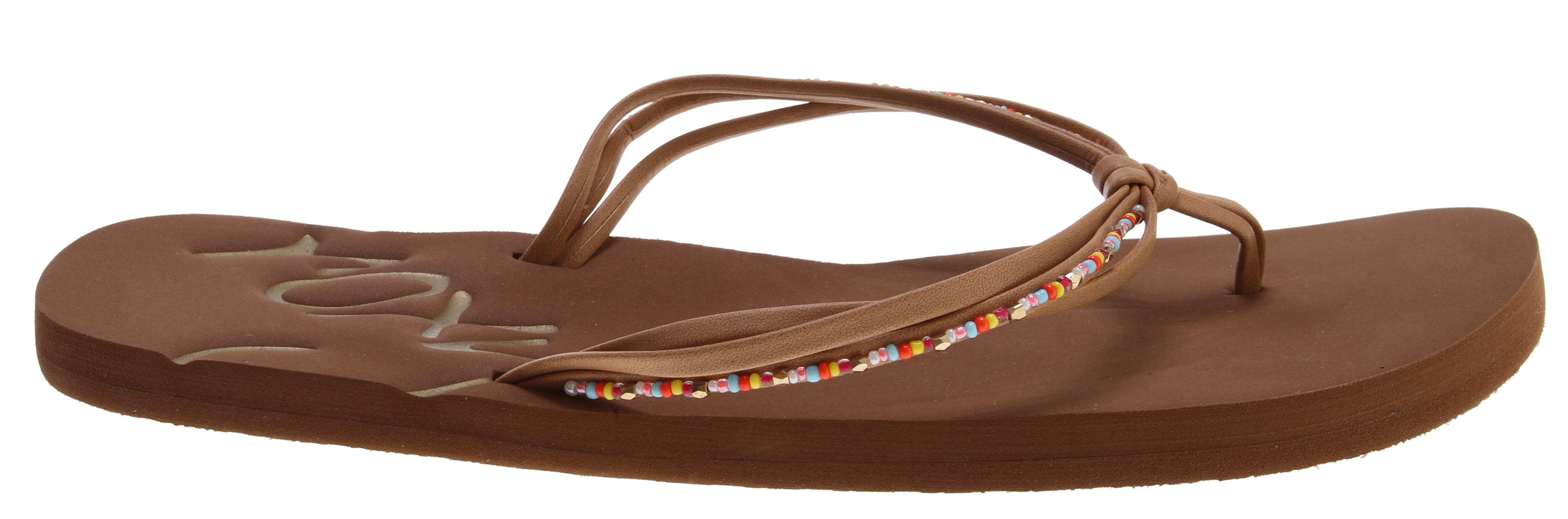 Surf Key Features of the Roxy Cabo Sandals: Beaded, soft pu upper Metallic pu lining Soft EVA footbed with ROXY script embossed logo - $17.95