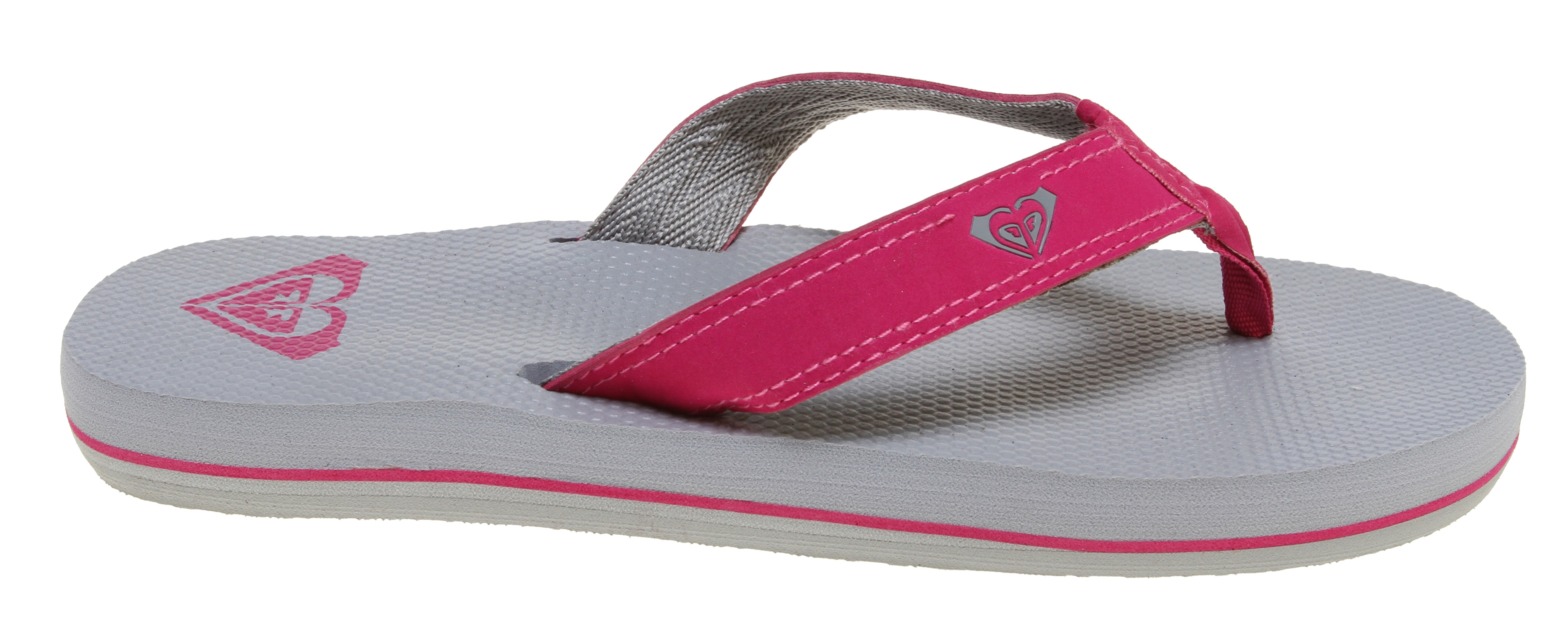 Surf Embrace your comfort chakra. Roxy's extra thick, super soft rubber flip-flops have an EVA insole and water-friendly poly-web lining. - $17.95