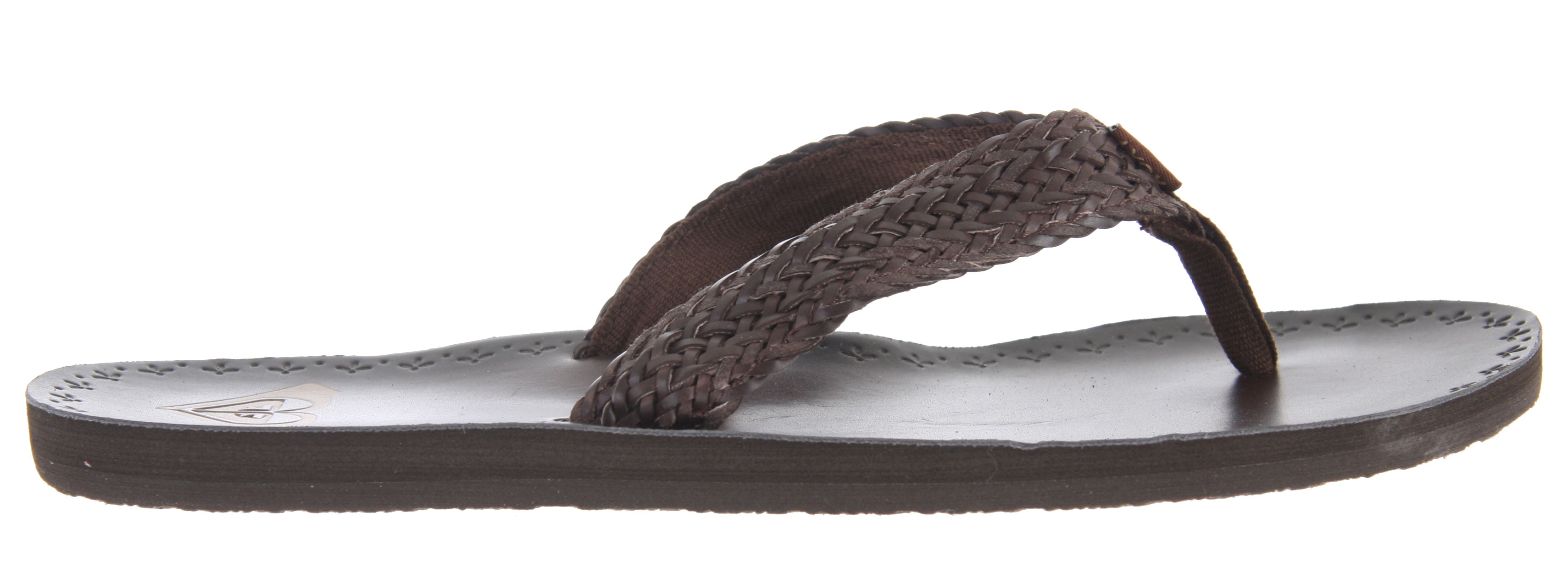Surf Roxy Fiji Sandals are the perfect luxury flip-flop for pristine beaches or the halls of your school. Featuring a soft braided synthetic strap, soft poly-web toe post and lining, and embossed and burnished smooth synthetic insole. Dress them up with a sundress or down with your favorite jeans. - $32.00