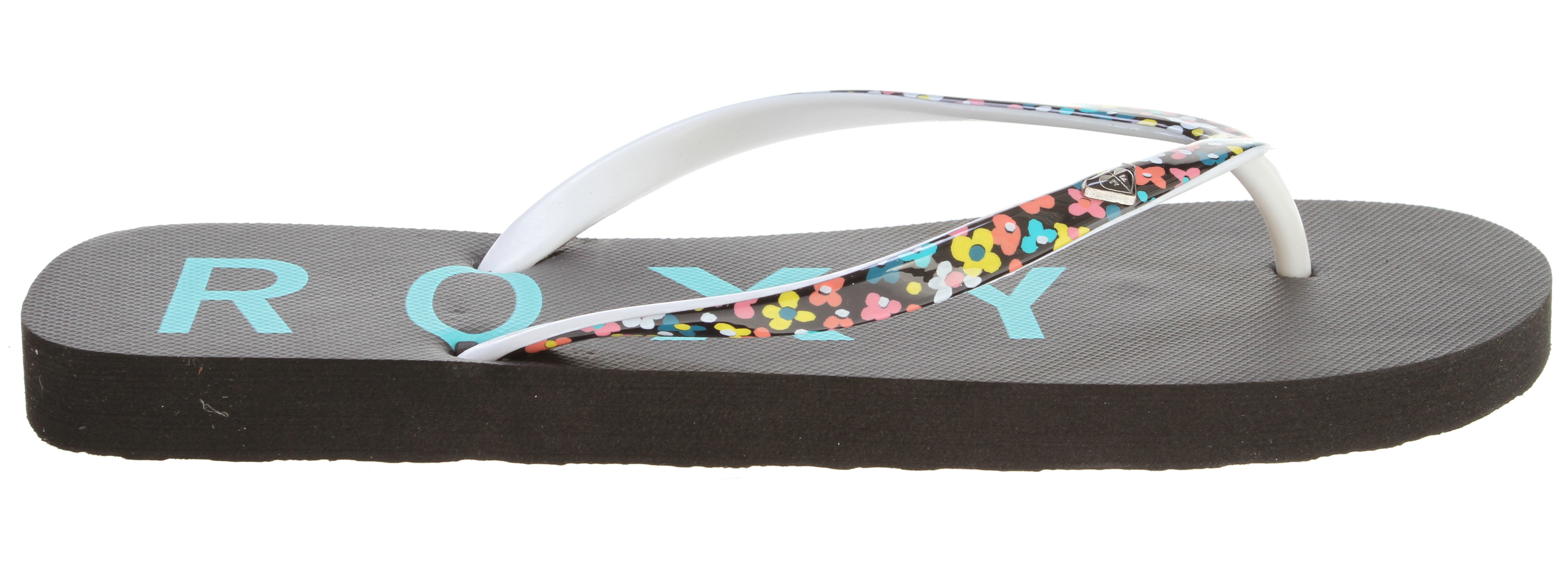 Surf Key Features of the Roxy Mimosa III Sandals: Skinny soft rubber and PVC printed upper with painted heart logo Squishy rubber insole with graphic Rubber outsole - $12.95