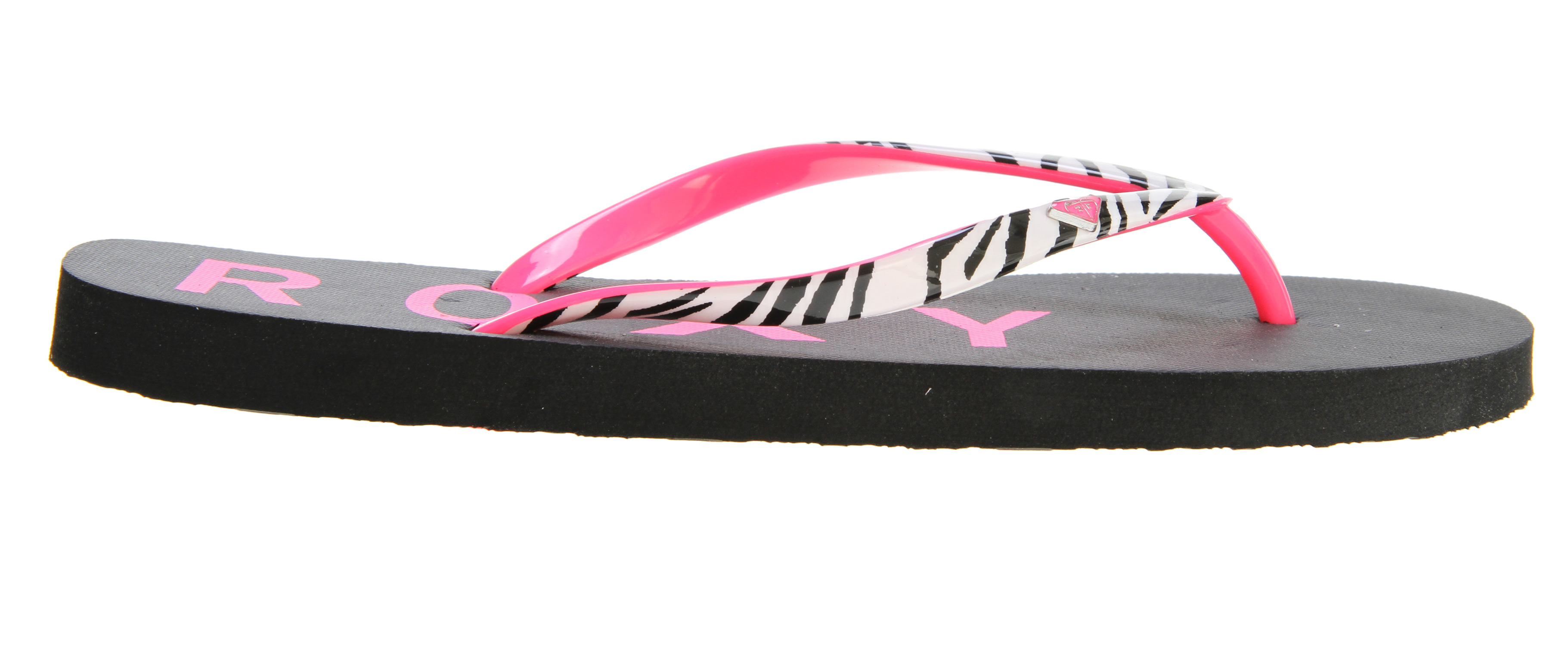 Surf Key Features of the Roxy Mimosa III Sandals: Skinny soft rubber and PVC printed upper with painted heart logo Squishy rubber insole with graphic Rubber outsole - $13.95