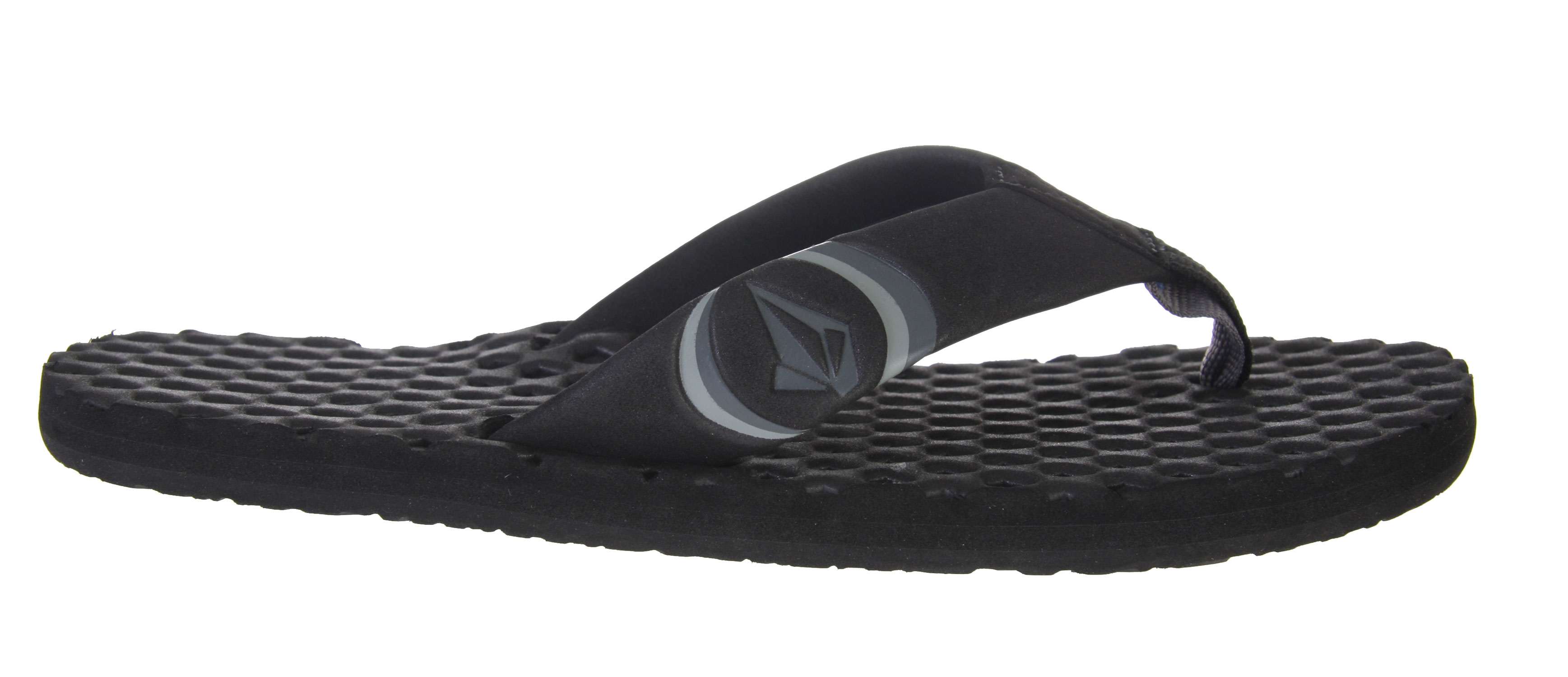"Surf Skip the hype of high priced sandals and choose the free-wheeling style that Volcom is known for. Volcom Decompression Creedlers sandals prove the principle that every Volcom product bears the stamp of founders ""Wooly"" and ""T-Dog"". Radical for their understated chic, Decompression Creedlers boast the iconic Volcom emblem. Engineered for comfort, Decompression sandals sport malleable EVA material throughout, from toe strap to foot-bed and molded outersole, resulting in a sandal that will leave your feet feeling stoked.Key Features of the Volcom Decompression Creedlers Sandals: EVA toe strap with embossing and enamel Unique waffle texture EVA footbed Molded EVA outsole - $18.95"