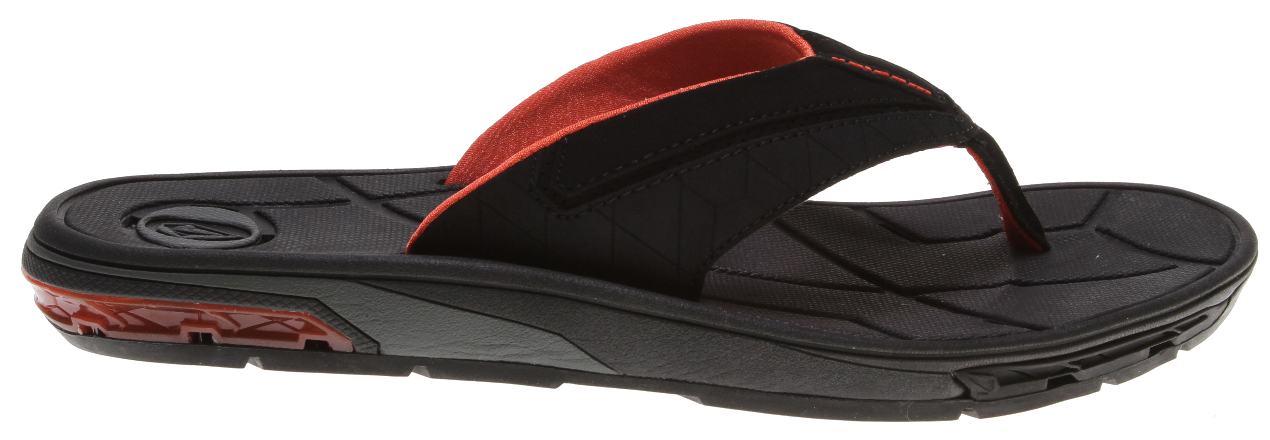 Surf Holy rubber sandals! The Main Drain Creedlers will have you walking on water. Or rather, their footbed's molded drain channels will move water out from under your feet to improve traction in the muckiest of conditions. Hallelujah.Key Features of the Volcom Main Drain Creedlers Sandals: Contoured EVA insole with anatomical arch support. Fully molded TPR gel heel provides maximum comfort and rebound. Upper is made from soft nubuck. Straps are lined with Lycra. - $42.95