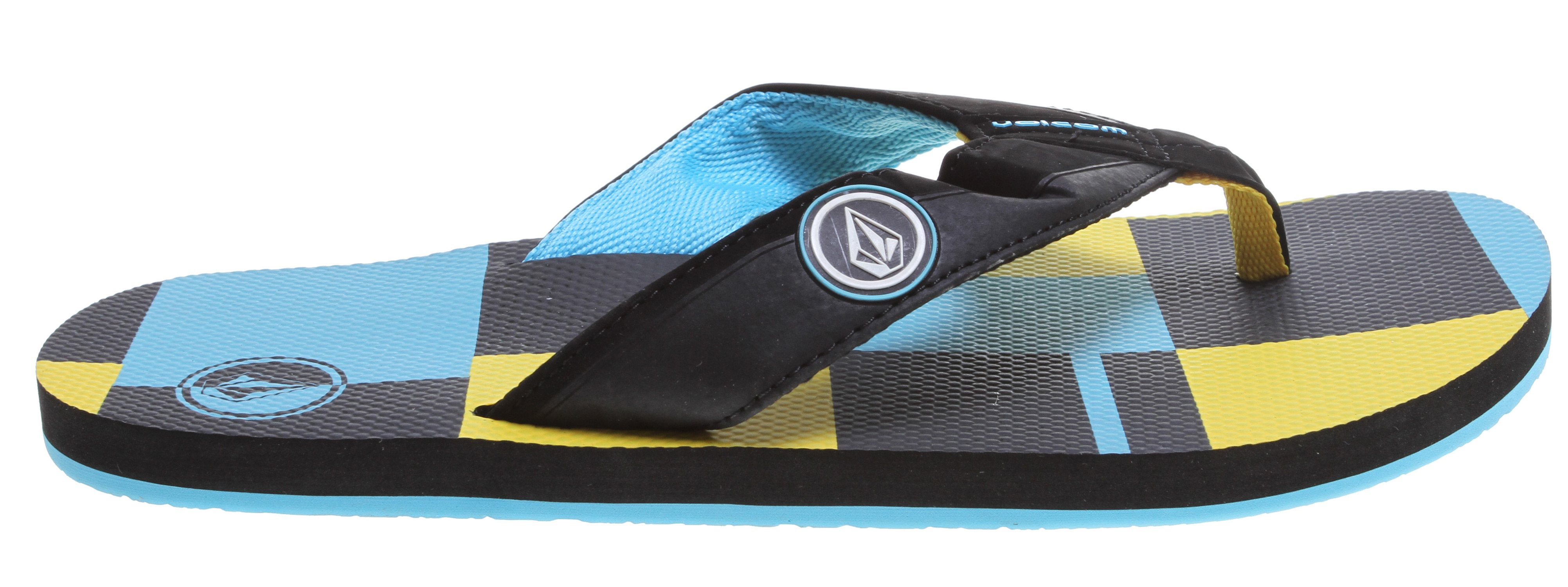 Surf Key Features of the Volcom Vocation Sandals: Synthetic Nubuck strap with high-density print logo, stitching details and webbing lining Textured, anatomical contour molded, dual density EVA top sole with arch support High density EVA outsole - $16.95