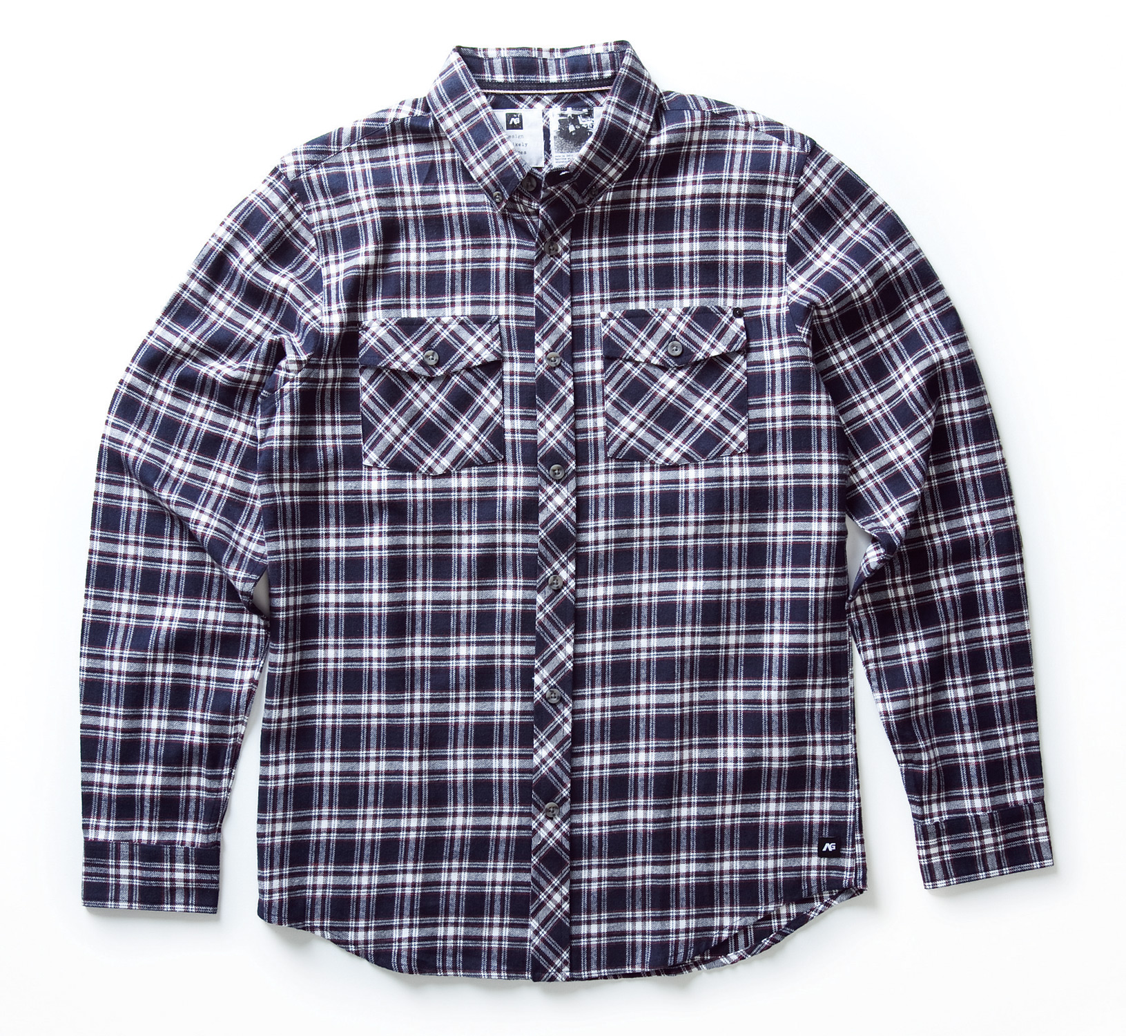 Guns and Military Key Features of the Analog Big Time L/S Flannel Shirt: Slim fit button front flannel shirt Double flap bias cut pockets Denim selvage taping detail at inner neck Classic small scale brushed plaid with soft hand wash 100% cotton - $31.95