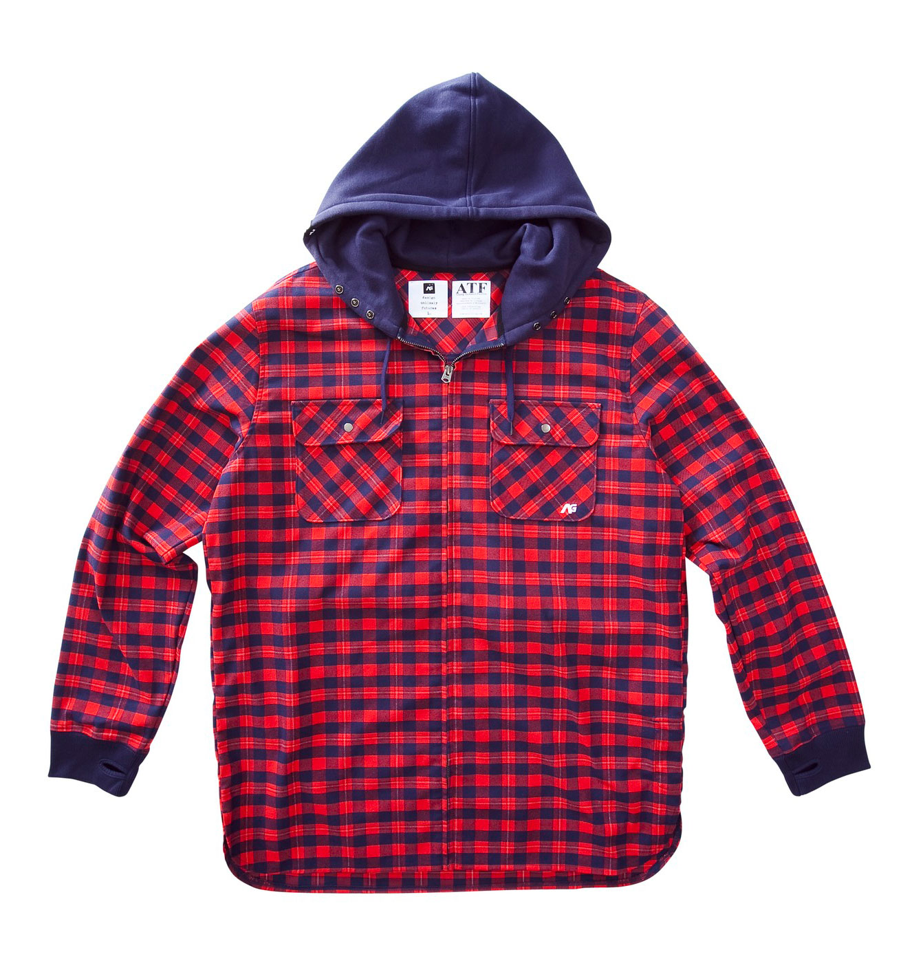 Don't fear the bone biting, skin burning, eye freezing cold when you've got your Analog Integrate Flannel on.  The Integrate Flannel is perfectly designed to get you through those blinding blizzards unscathed.  The lightweight design makes sure you don't break down from exhaustion midway in your journey.  The fleece hood keeps your decision maker (your noggin  intact and on top of its game to get you home safely.  Don't make the silly mistake of leaving home without your Analog Integrate Flannel.Key Features of the Analog Integrate Flannel:  Poly Brushed Flannel Yarn Dye Plaid  Lightweight &  Insulative Flannel Fabric Created By Hollow Yarns  With Mechanical Stretch & Moisture Wicking  Fleece  Hood With Adjustable Snaps And Rib Cuffs With  Thumbholes  Team Fit - $68.95