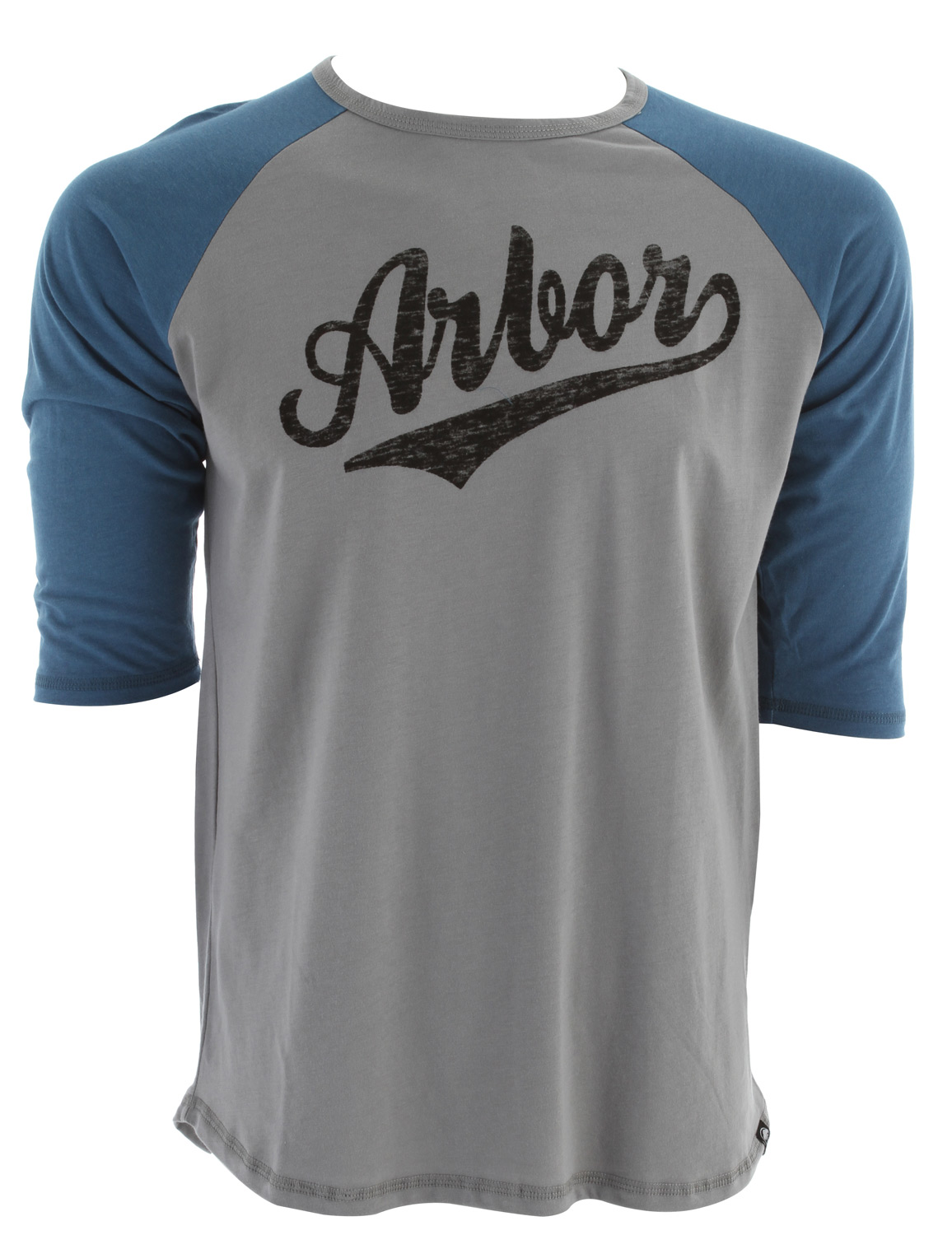 Sports Key Features of The Arbor Durham 3/4 Sleeve T-Shirt: Regular Fit Crew Neck Short Sleeve 70/30 viscose from bamboo Organic cotton jersey raglan baseball tee w/ inside print - $26.95