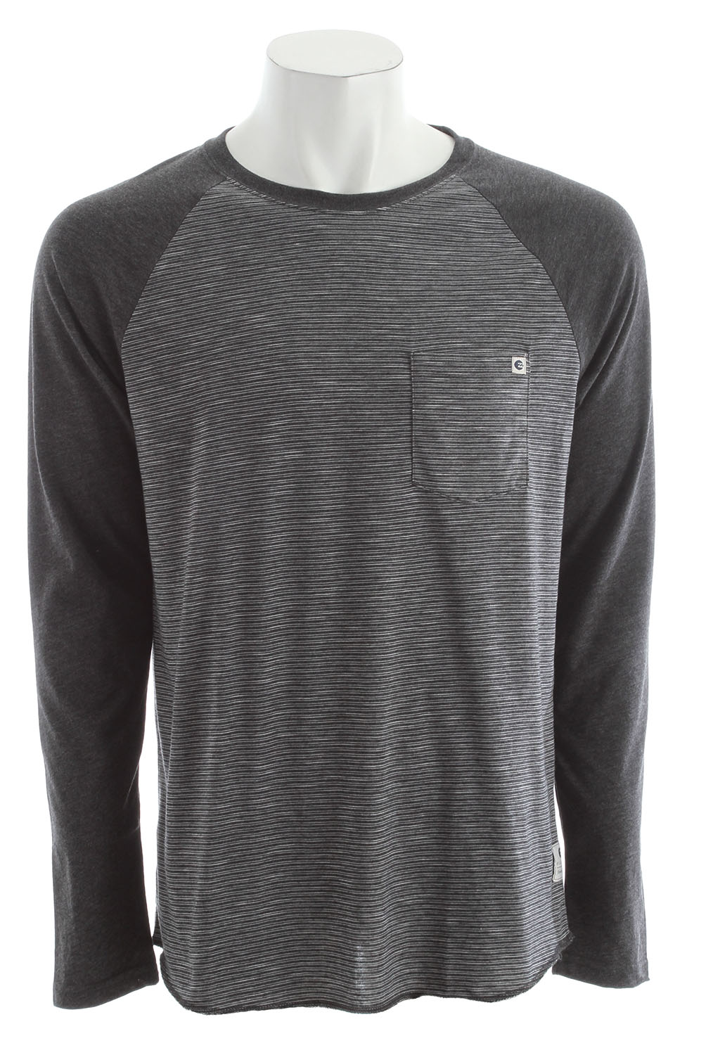 Surf Key Features of the Billabong Cable Raglan Shirt: Regular fit striped long sleeve raglan with a front pocket, essential woven label and pvc-free heat sealed neck label Made with 52% polyester/48% cotton - $32.00