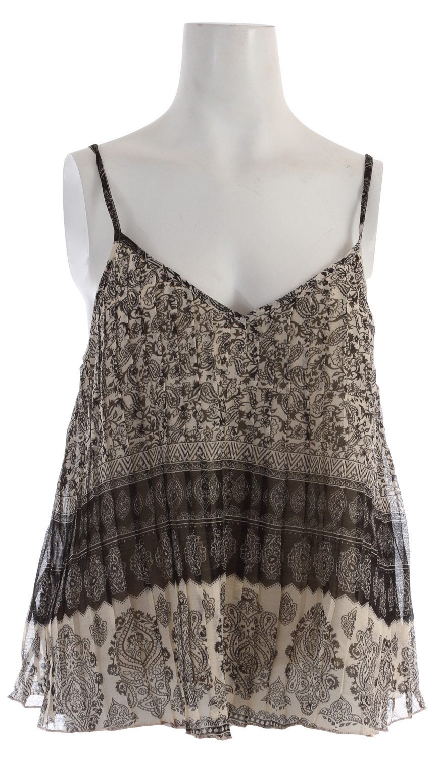 Surf Key Features of the Billabong Pleat It Cami: 68% polyester/32% cotton pleated woven chiffon cami w/ all-over print & adjustable straps - $28.95