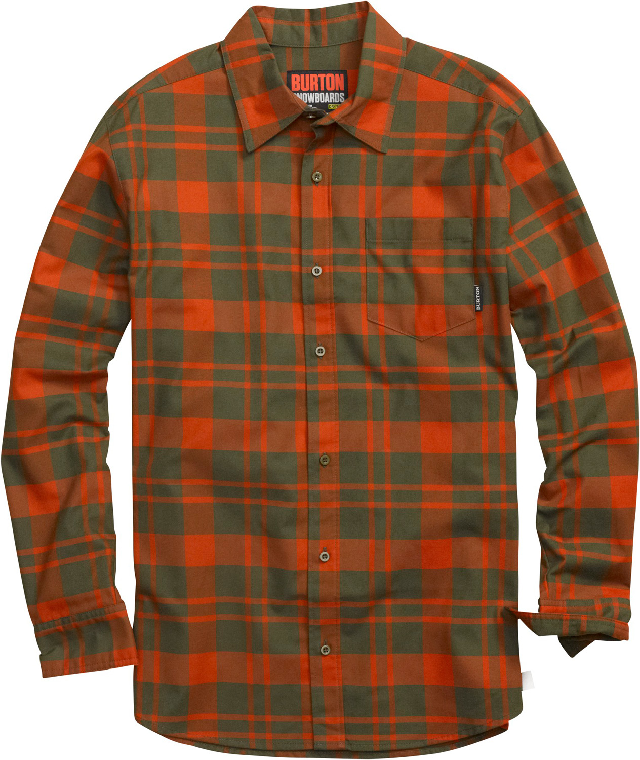 Snowboard Rustic appeal meets modern feel. Quick-drying, stink-fighting flannel for on or off-hill style.Key Features of the Burton Repel Flannel: DRYRIDE Ultrawick Yarn-Dyed Polyester/Cotton Blend Fabric with Mist-Defy Quick-Drying and Highly Breathable Stink-Proof Antimicrobial Finish Chest Pocket Button-Up Closure - $74.95